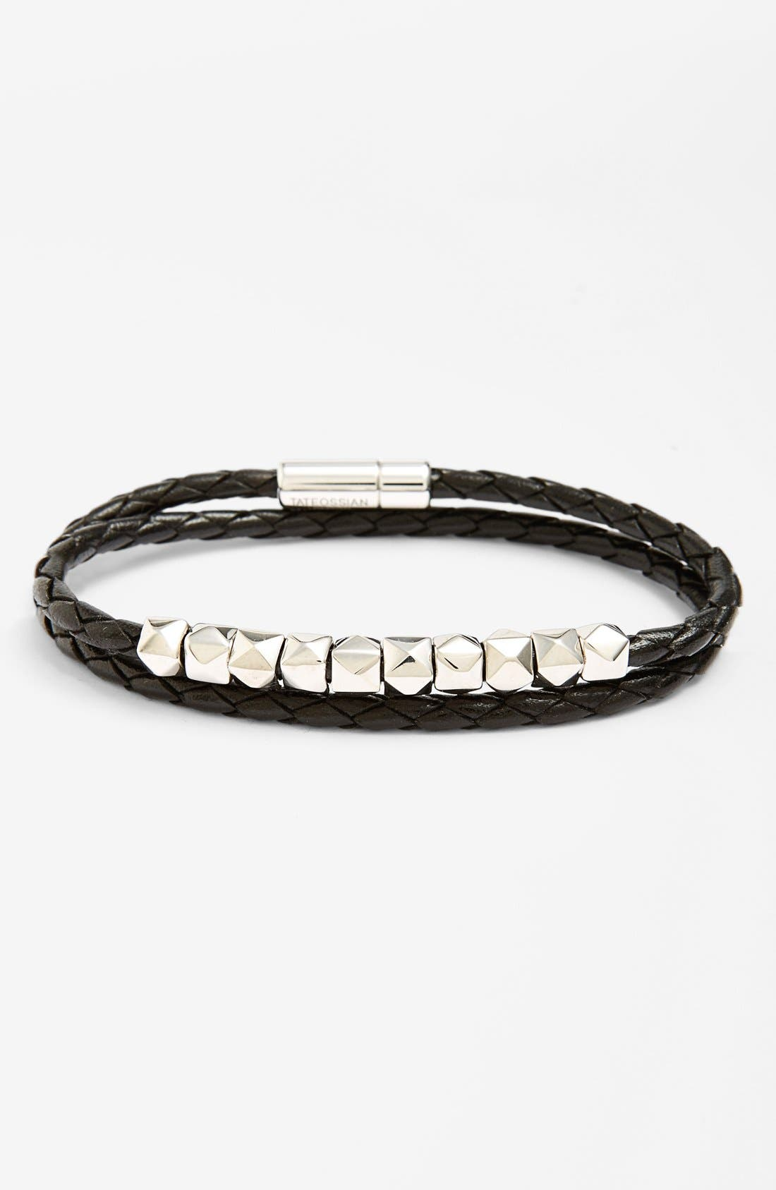 Alternate Image 1 Selected - Tateossian Studded Leather Wrap Bracelet