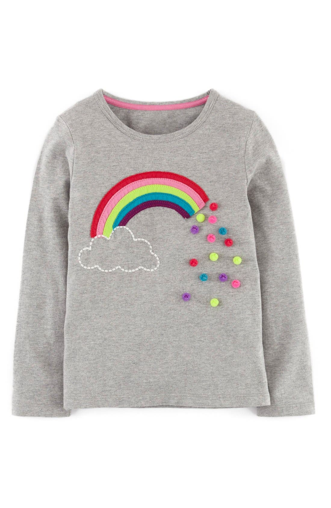 Main Image - Mini Boden Dotty Appliqué Tee (Toddler Girls, Little Girls & Big Girls)