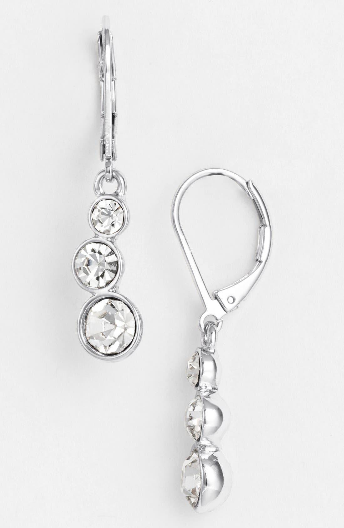 Main Image - Anne Klein Crystal Drop Earrings