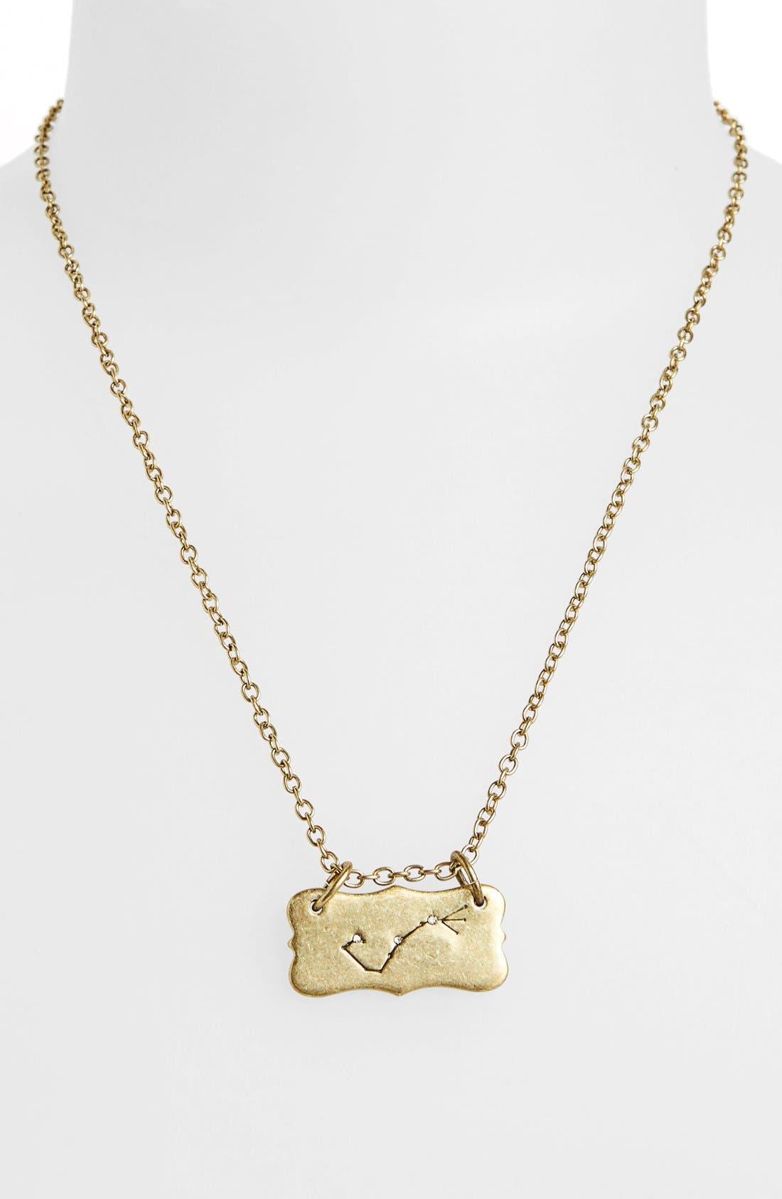 Alternate Image 3  - Berry 'Zodiac - Scorpio' Reversible Pendant Necklace (Goldtone)