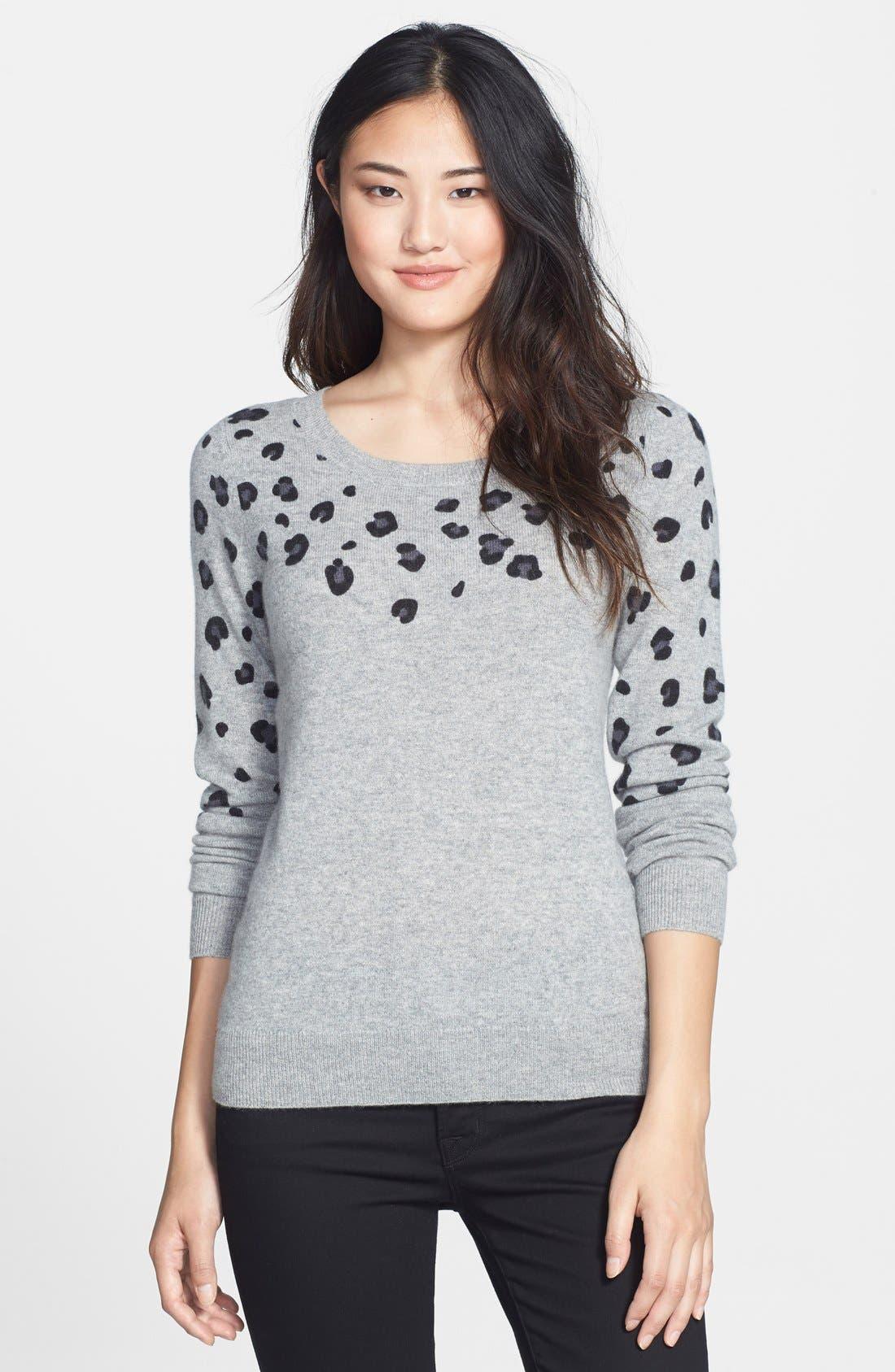 Alternate Image 1 Selected - Halogen® Cashmere Crewneck Sweater (Regular & Petite)