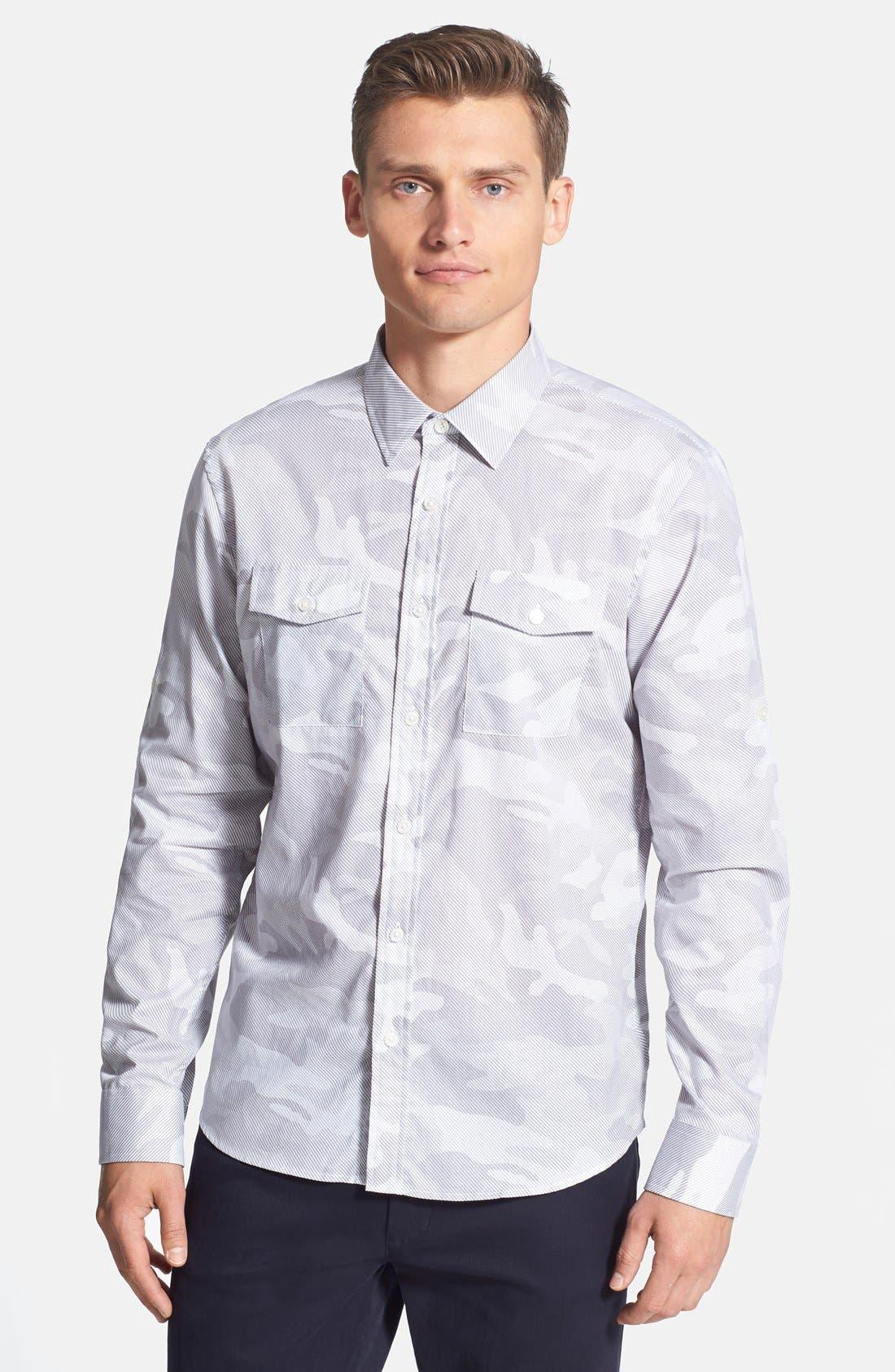 Alternate Image 1 Selected - Michael Kors Camo Print Sport Shirt