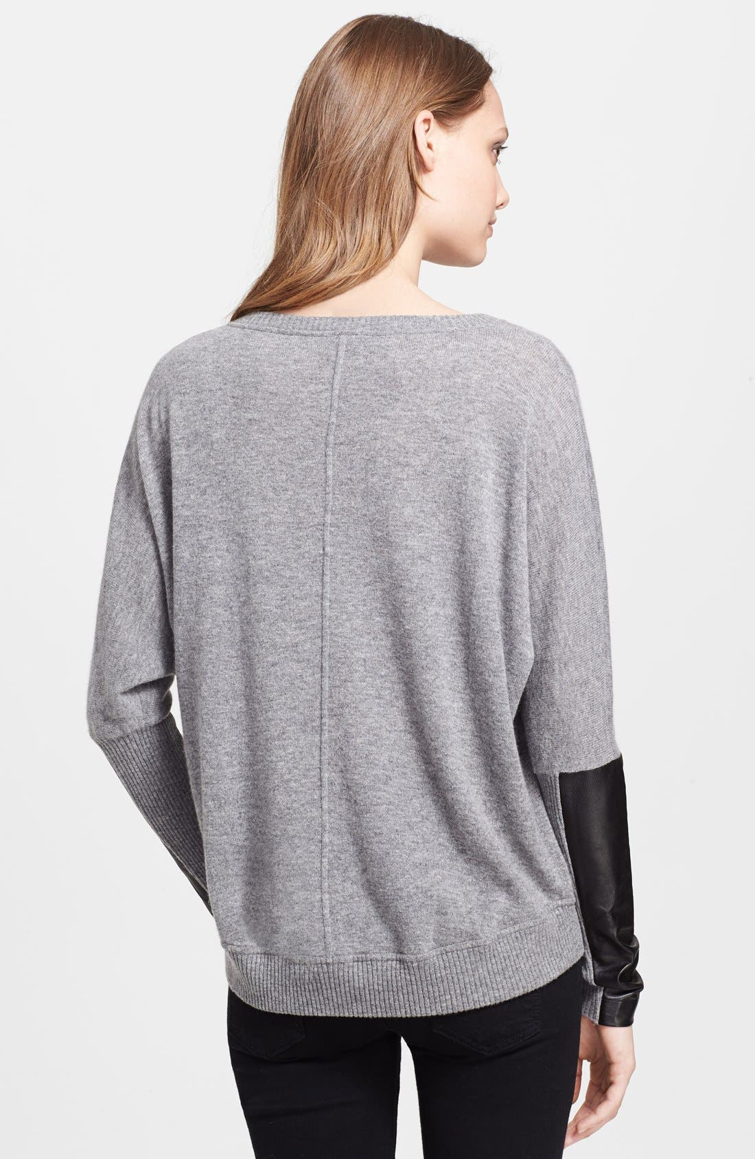 Alternate Image 2  - autumn cashmere Leather Patch Dolman Sleeve Cashmere Sweater