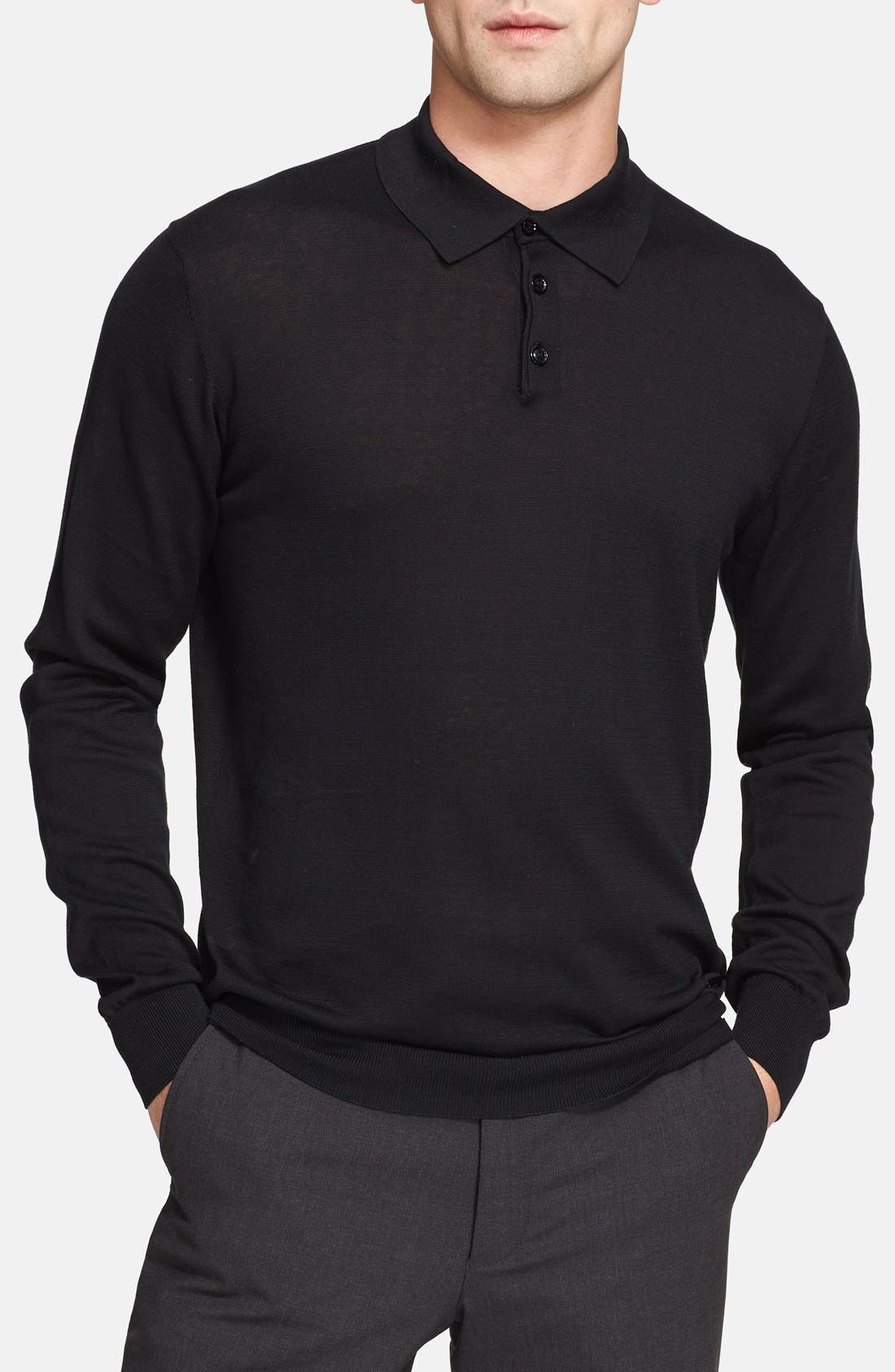 Alternate Image 1 Selected - Armani Collezioni Textured Knit Polo
