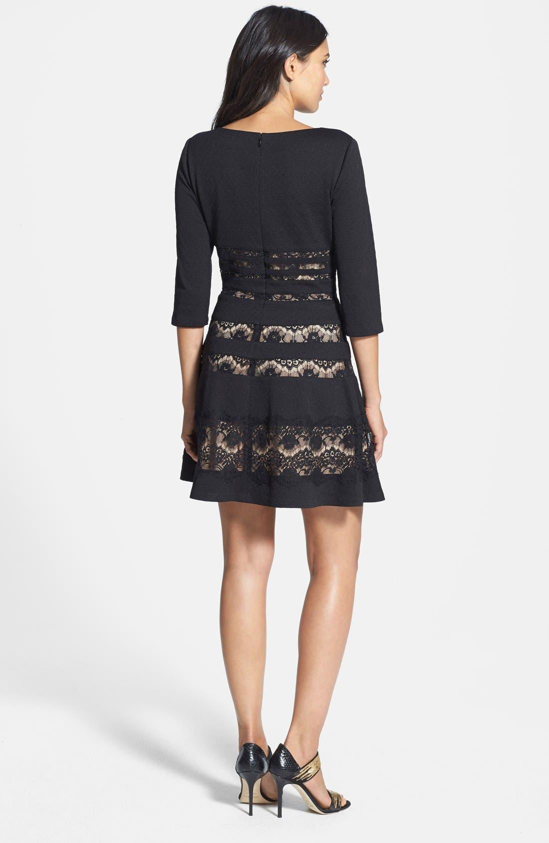 Alternate Image 2  - ERIN erin fetherston 'Millie' Lace Inset Ponte Fit & Flare Dress