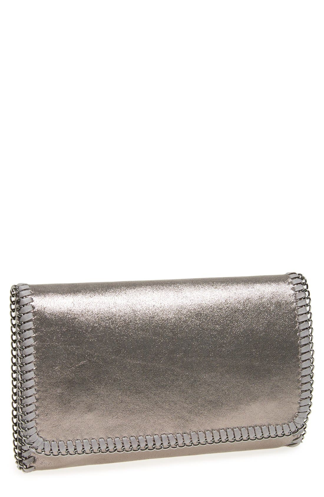 Main Image - Phase 3 'Metallic Chain' Foldover Clutch
