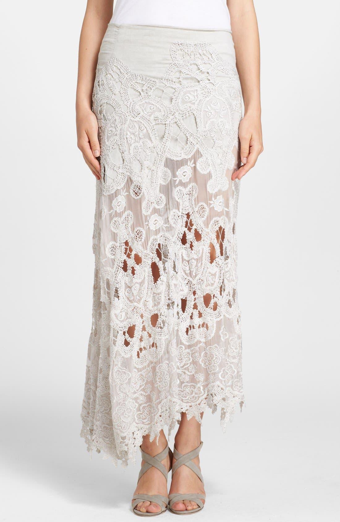 Alternate Image 1 Selected - Donna Karan New York Macramé Lace Skirt