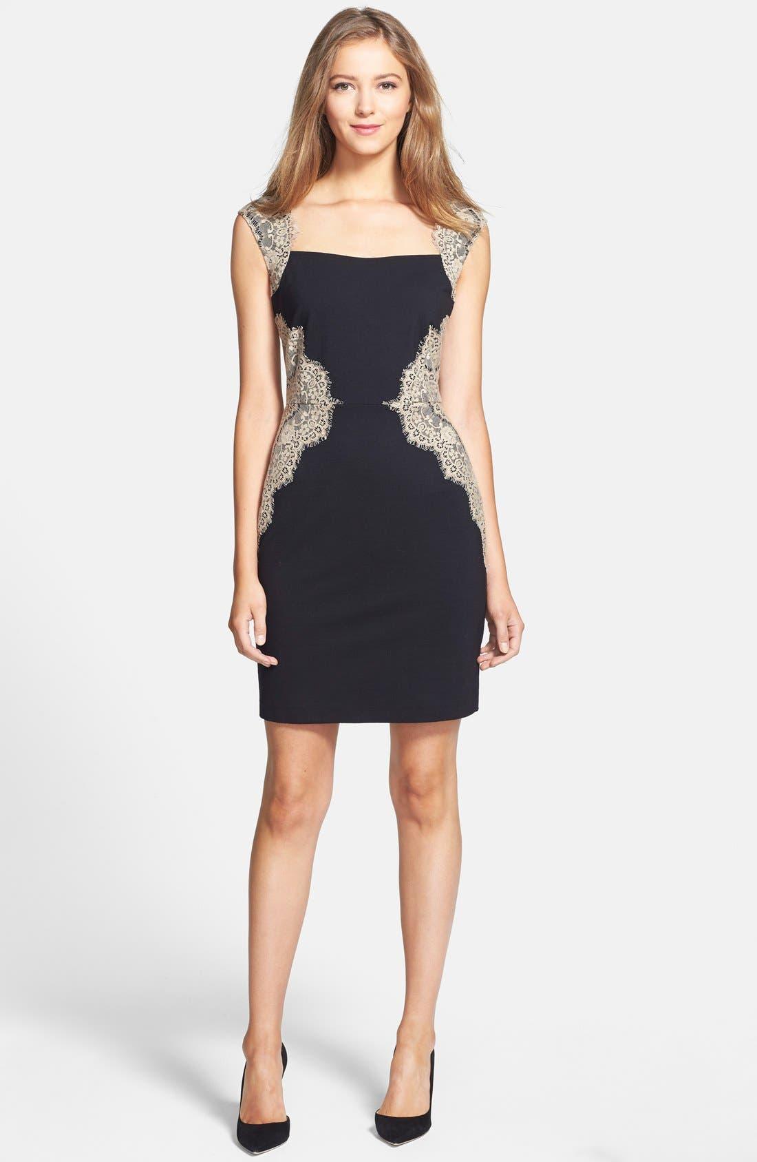 Alternate Image 3  - ERIN erin fetherston 'Shelby' Lace Panel Ponte Sheath Dress