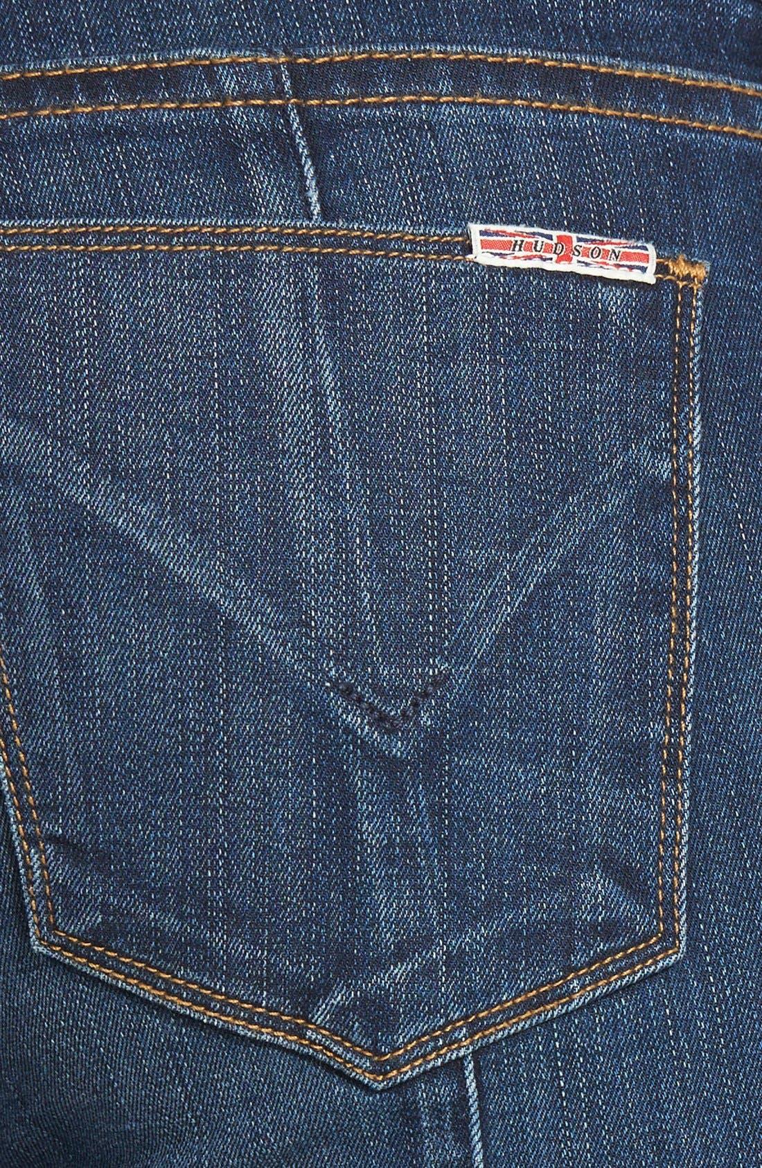 Alternate Image 3  - Hudson Jeans 'Spirit Punk' Zip Detail Skinny Jeans (Globetrotter)