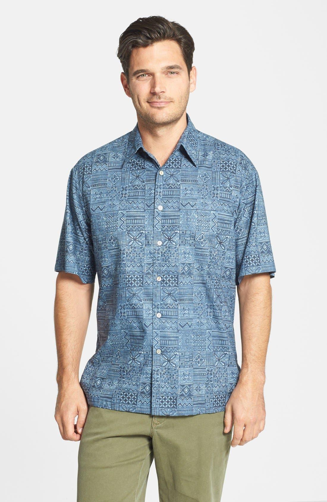 Alternate Image 1 Selected - Tori Richard 'Tapa Maze' Cotton Lawn Campshirt