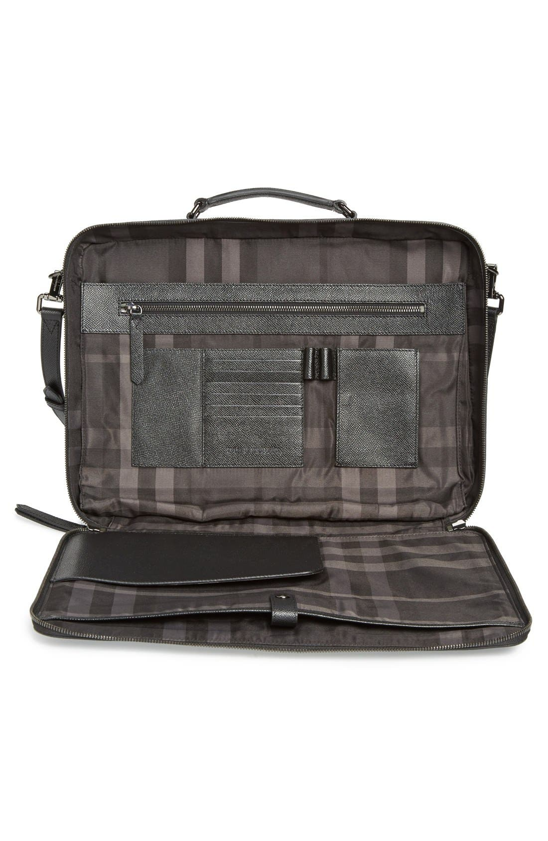 Alternate Image 3  - Burberry 'Blackmore' Leather Computer Briefcase