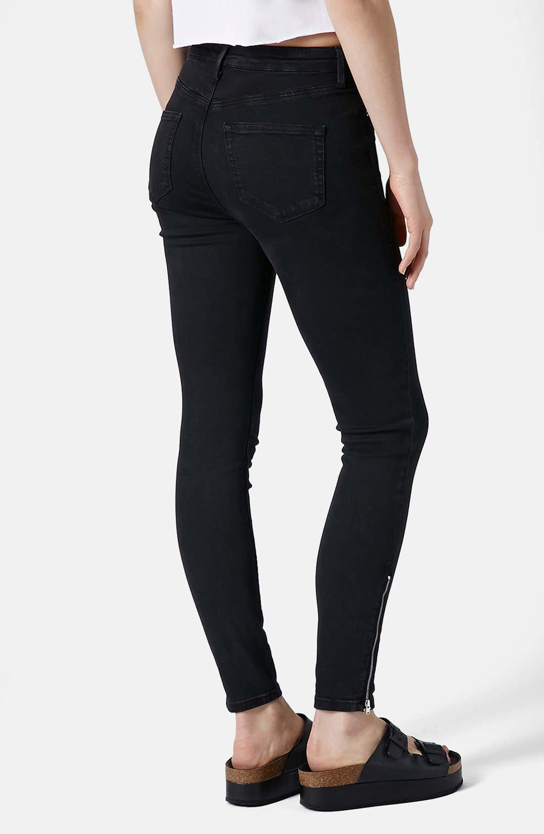 Alternate Image 2  - Topshop 'Jamie' Zip Ankle Jeans