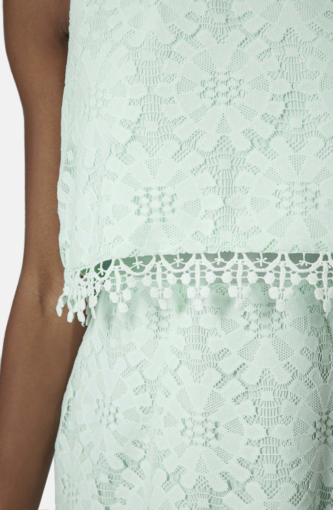 Alternate Image 4  - Topshop Lace Tiered Shift Dress