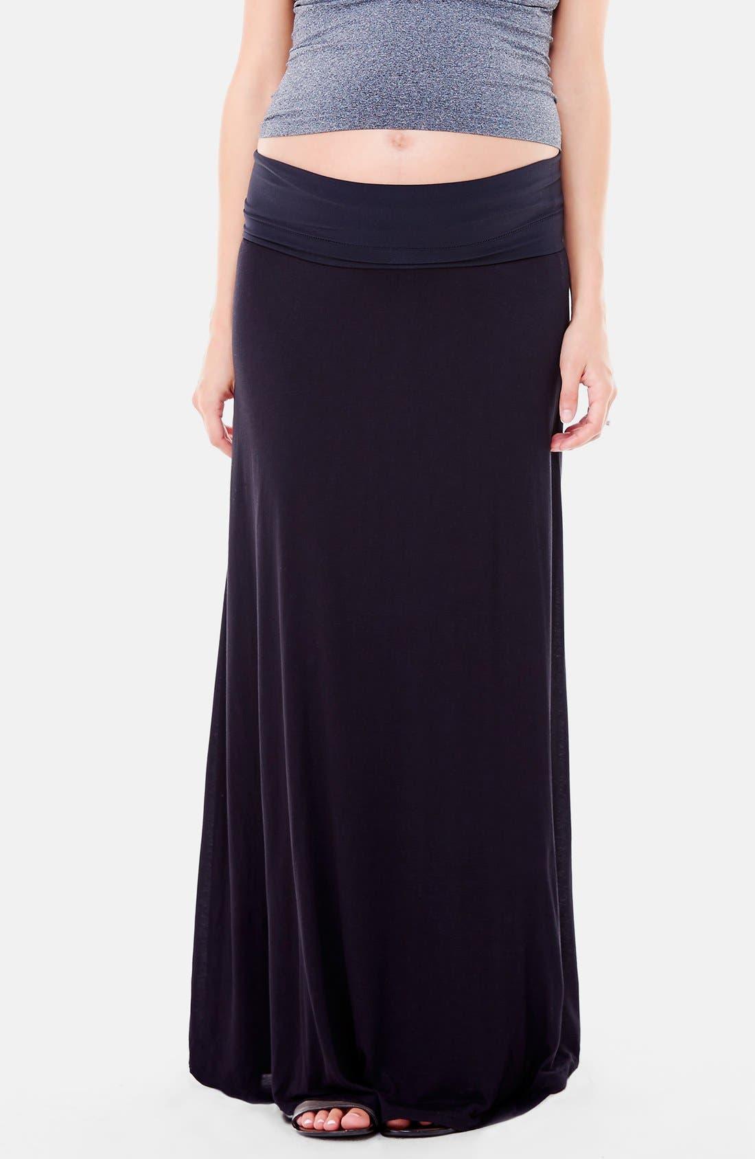 Alternate Image 3  - Ingrid & Isabel®'Flowy' Maxi Maternity Skirt