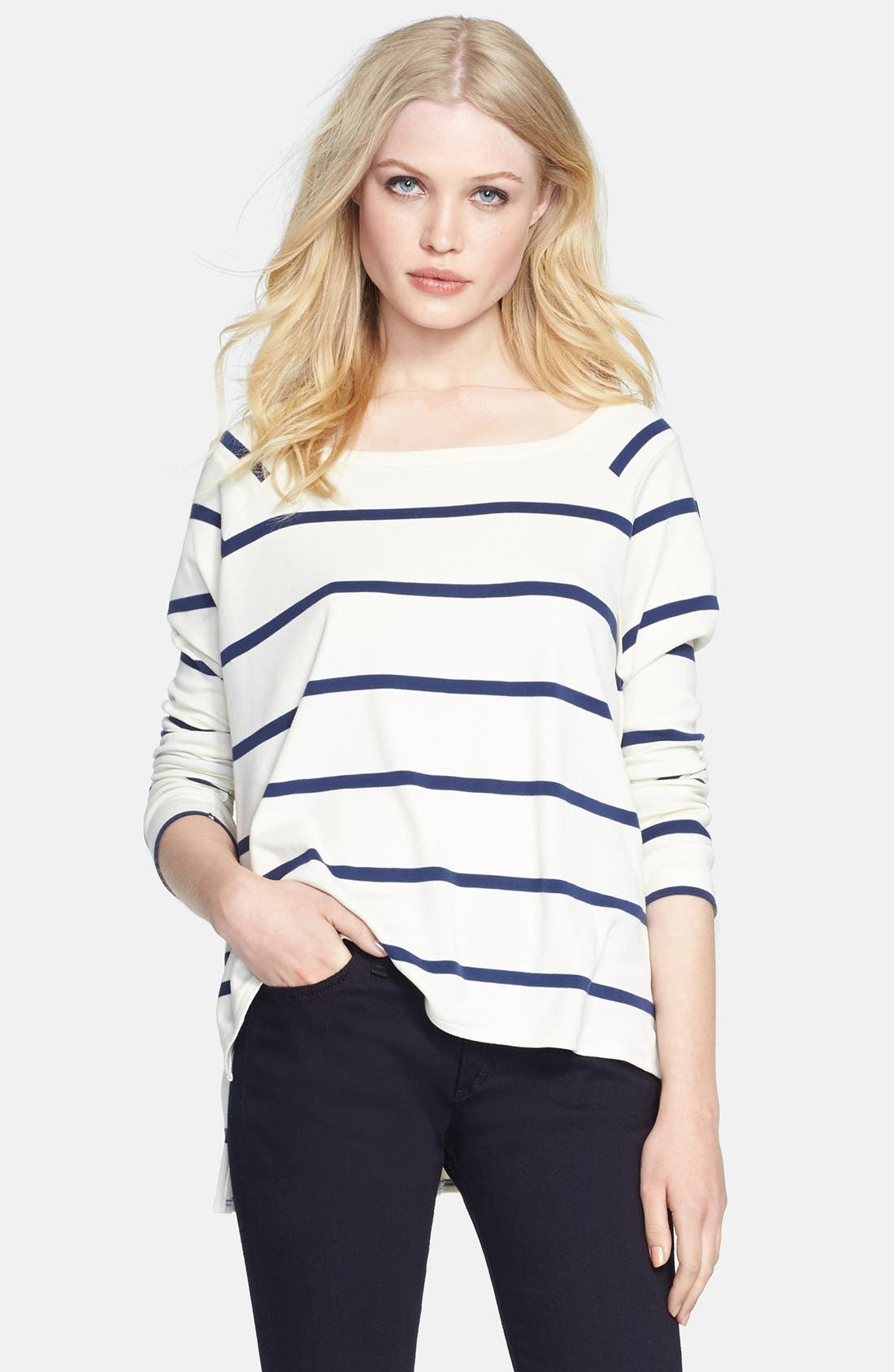 Main Image - rag & bone/JEAN 'Miller' Stripe High/Low Tee