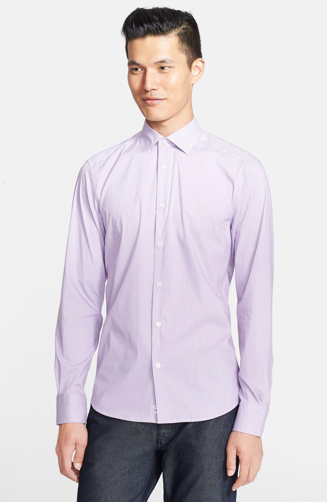 Main Image - Z Zegna Extra Trim Fit Stripe Dress Shirt