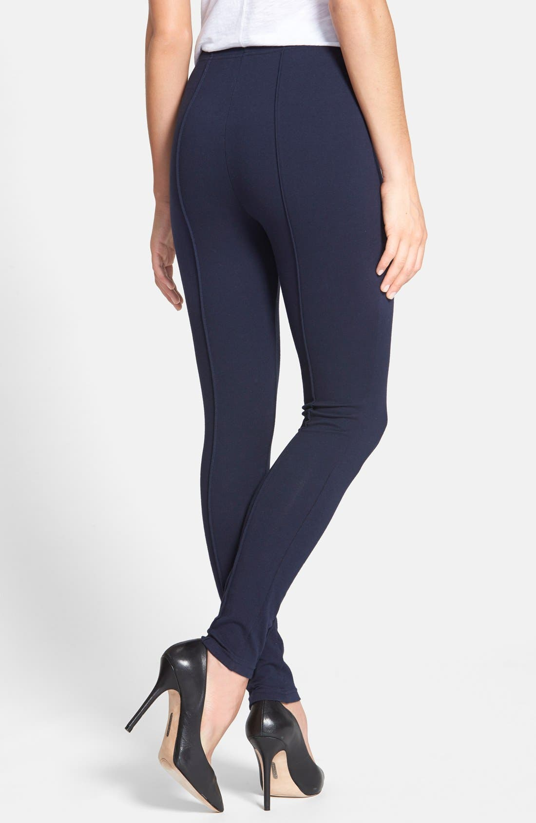 Alternate Image 2  - Chaus Pintuck Seam Leggings