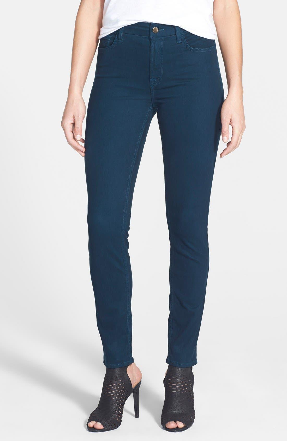 Alternate Image 1 Selected - Jen7 Colored Stretch Denim Skinny Jeans