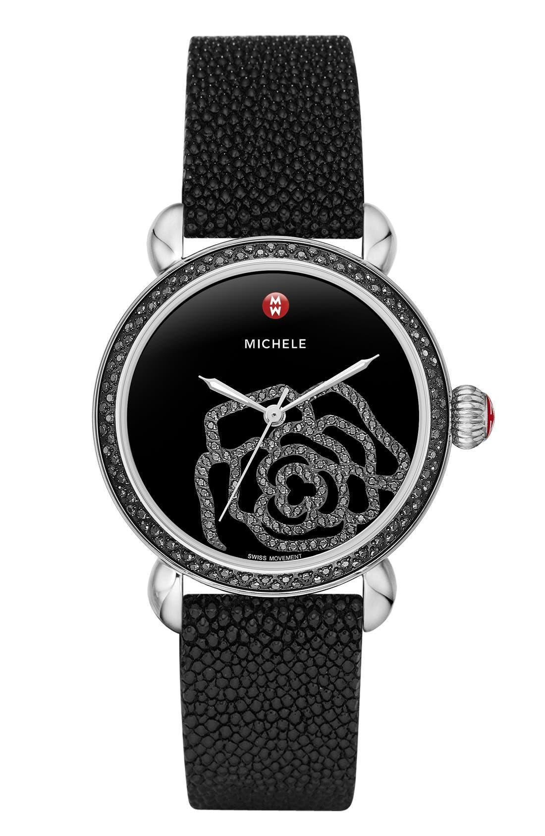 Alternate Image 3  - MICHELE 'CSX Jardin Diamond' Diamond Dial Watch Case, 36mm