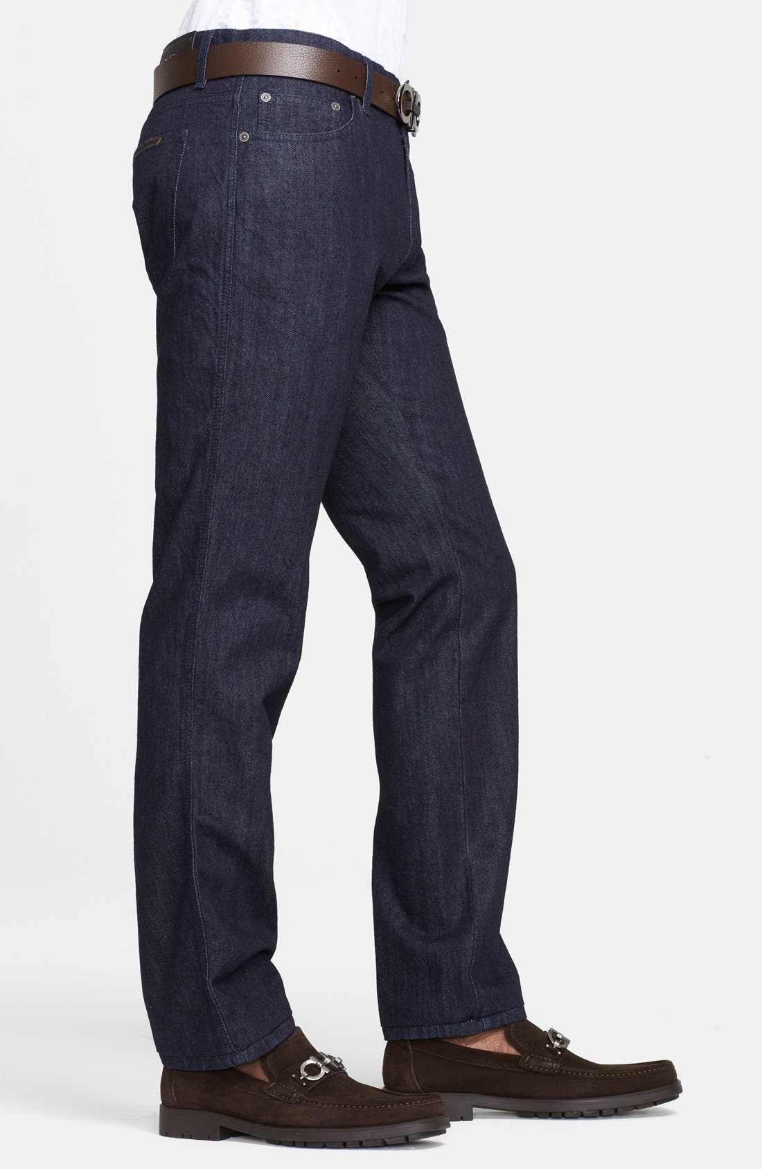 Alternate Image 3  - Salvatore Ferragamo 'Blue' Straight Leg Jeans