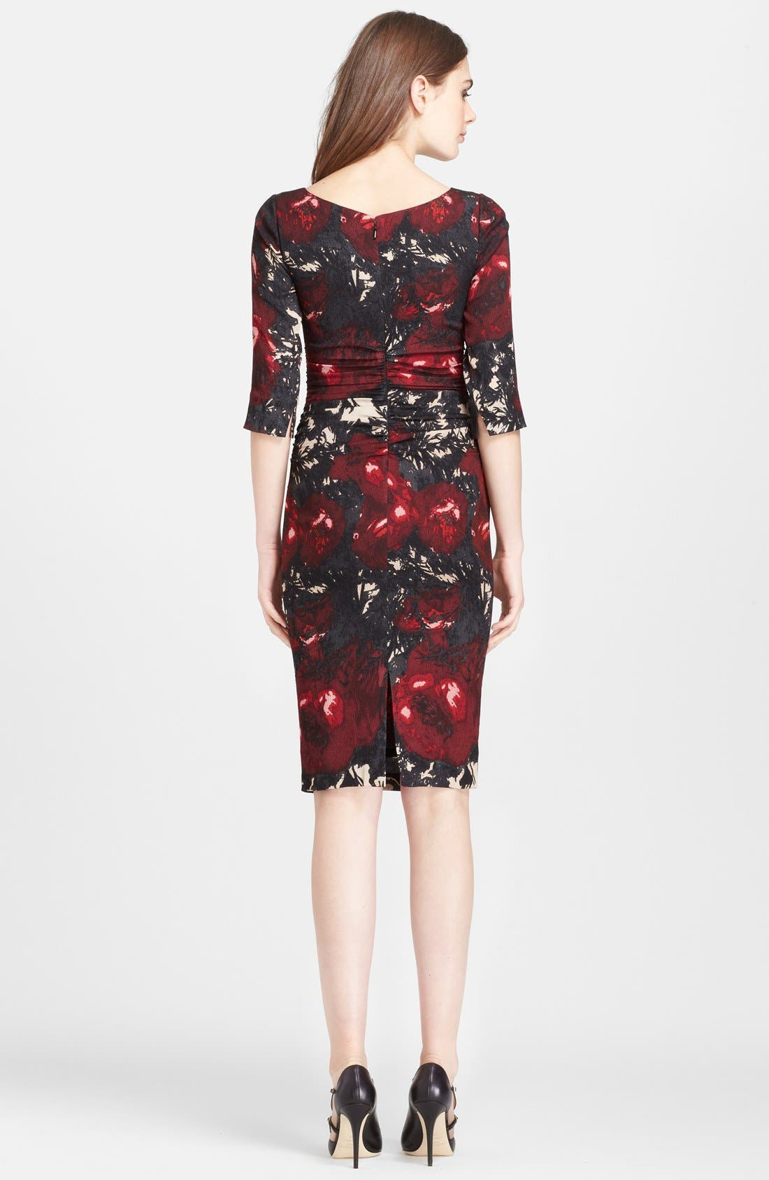 Alternate Image 2  - Tracy Reese Print Stretch Silk Crepe Dress