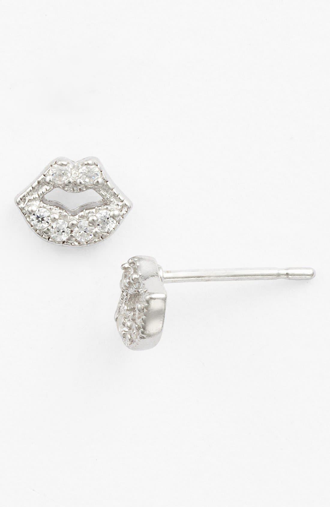 Main Image - Sugar Bean Jewelry Lips Stud Earrings