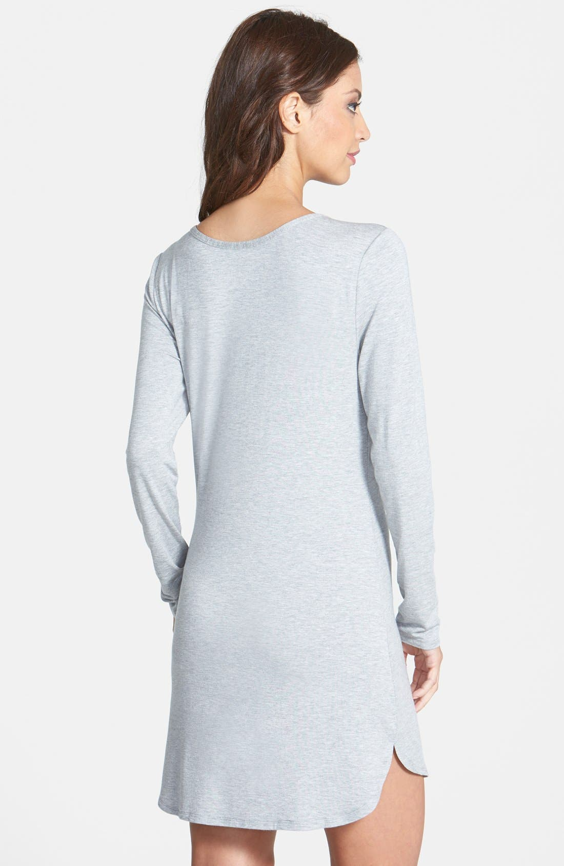 Alternate Image 2  - Splendid Long Sleeve Sleep Shirt