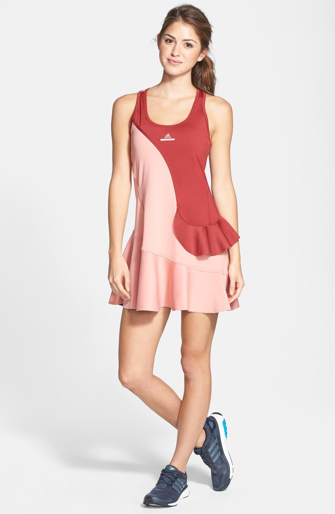 Alternate Image 1 Selected - adidas by Stella McCartney 'Barricade' Ruffled Dress