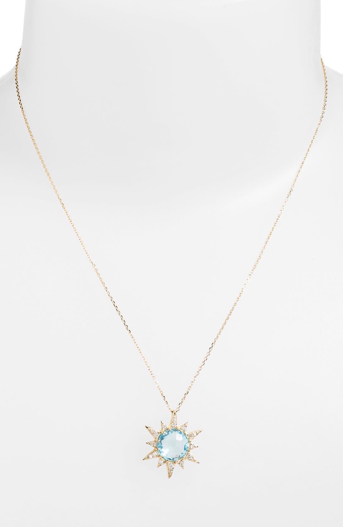 Alternate Image 2  - Anzie 'Aztec' Topaz & Diamond Starburst Pendant Necklace