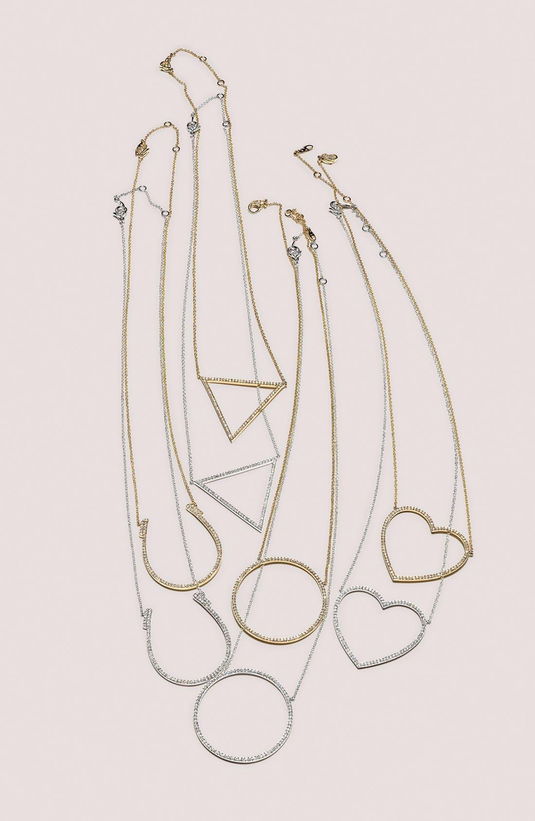 Alternate Image 3  - Nadri Pavé Horseshoe Pendant Necklace