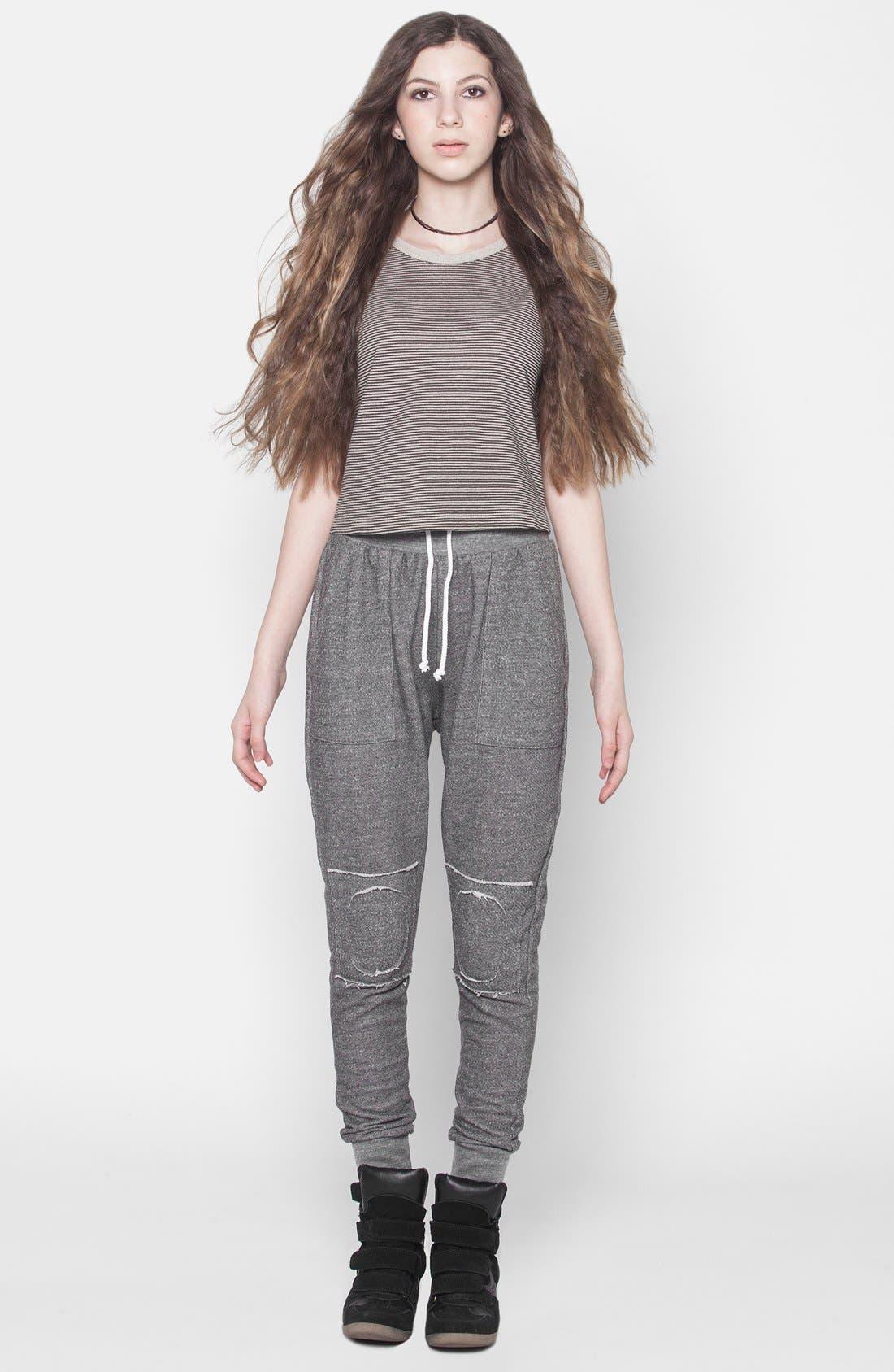 Alternate Image 3  - ISABELLA ROSE TAYLOR Skinny Lounge Pants (Juniors)