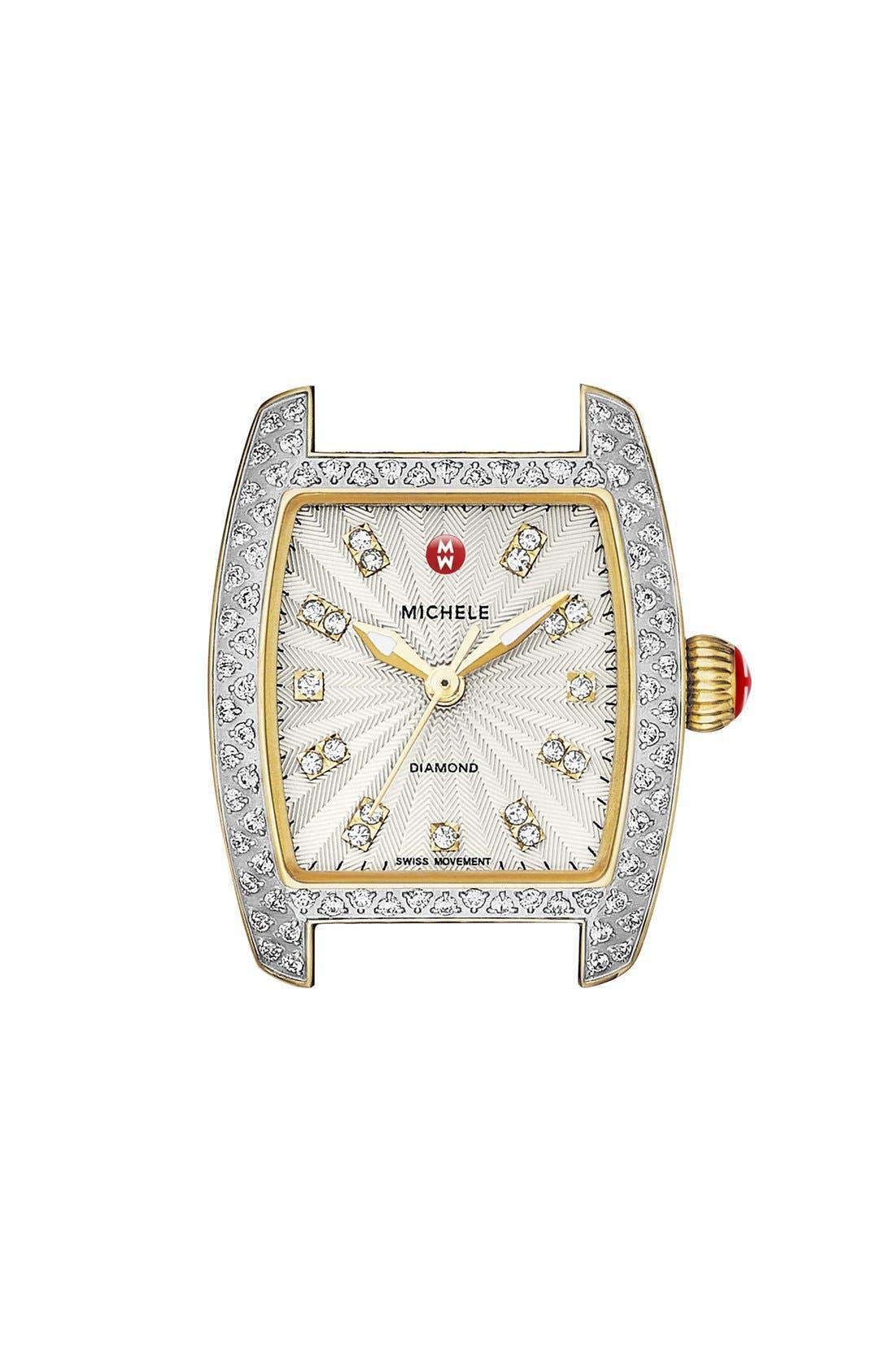 Alternate Image 1 Selected - MICHELE 'Urban Petite Diamond' Diamond Dial Watch Case, 21mm x 22mm (Limited Edition)