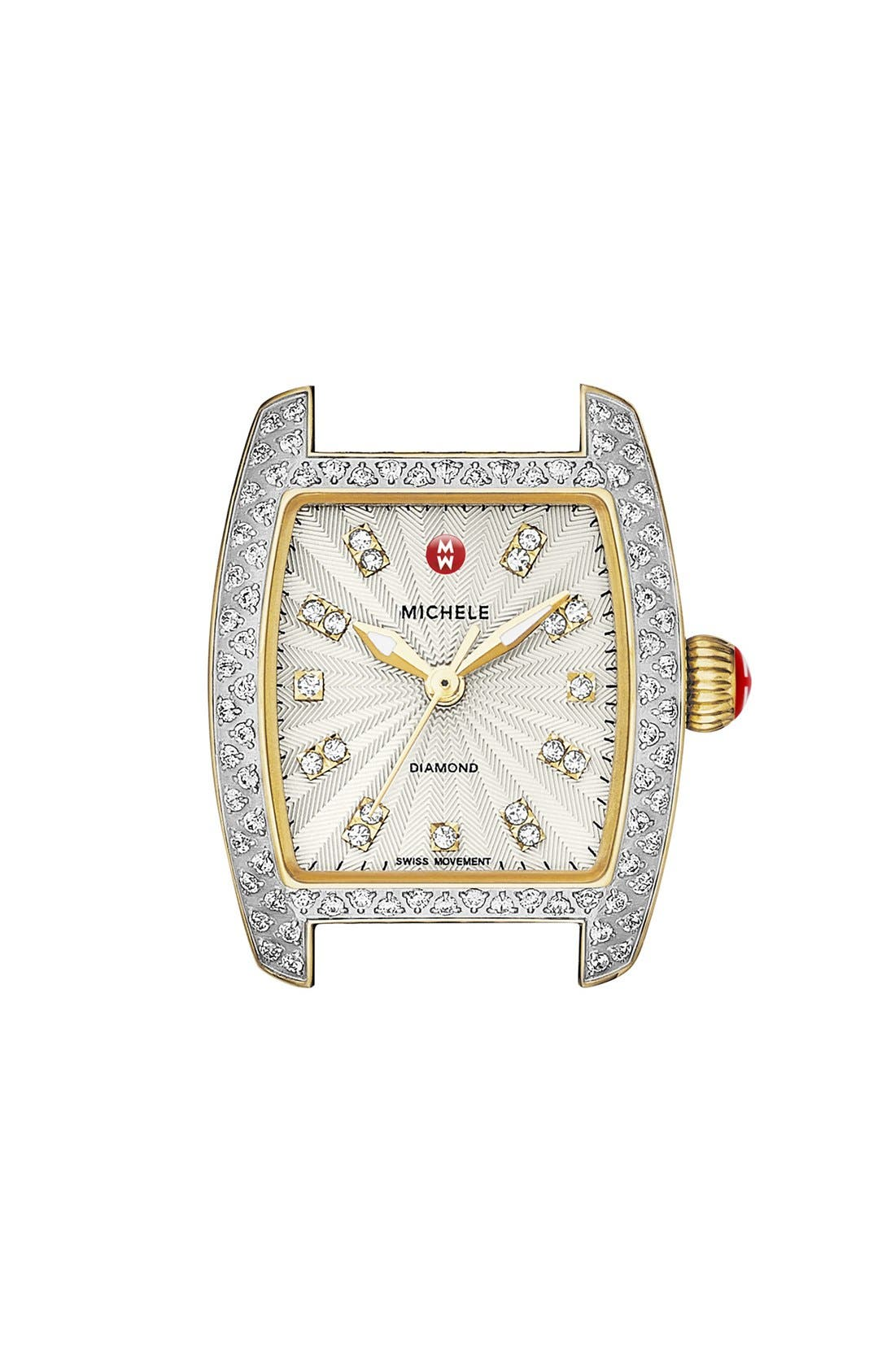 Main Image - MICHELE 'Urban Petite Diamond' Diamond Dial Watch Case, 21mm x 22mm (Limited Edition)