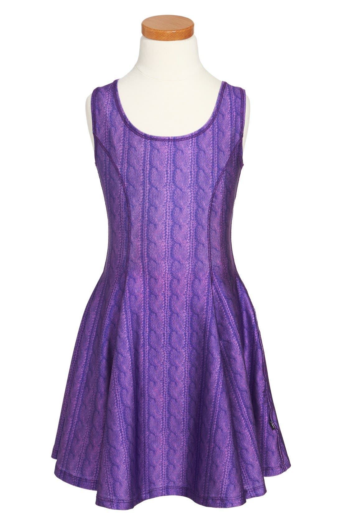Alternate Image 1 Selected - Terez Cable Knit Dress (Big Girls)