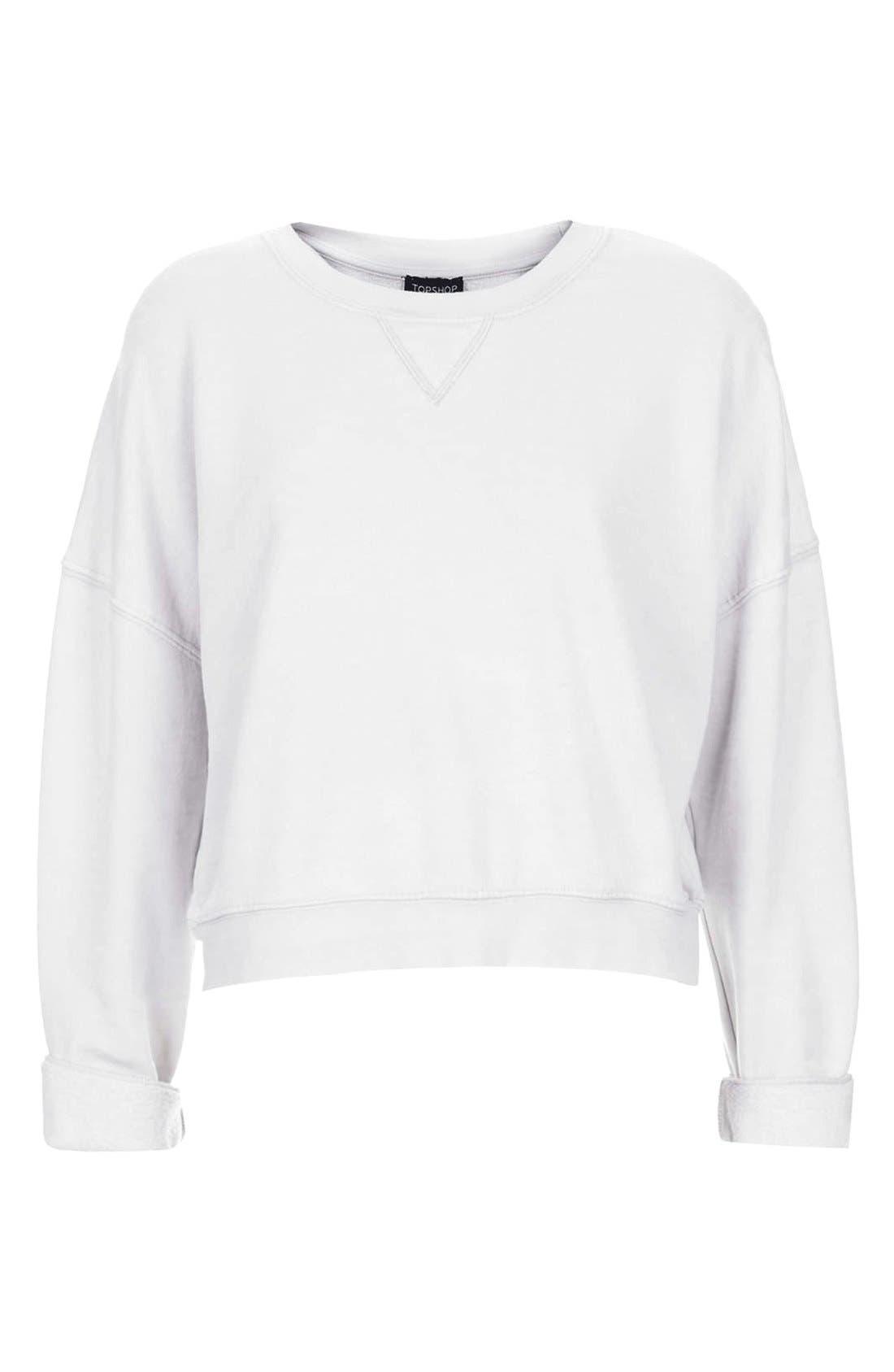 Alternate Image 3  - Topshop Long Sleeve Burnout Sweater