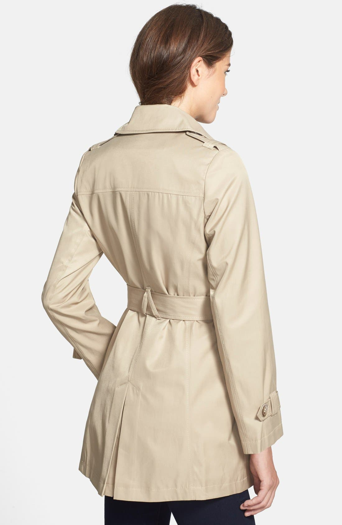 Alternate Image 2  - DKNY Double Breasted Trench Coat (Regular & Petite) (Online Only)