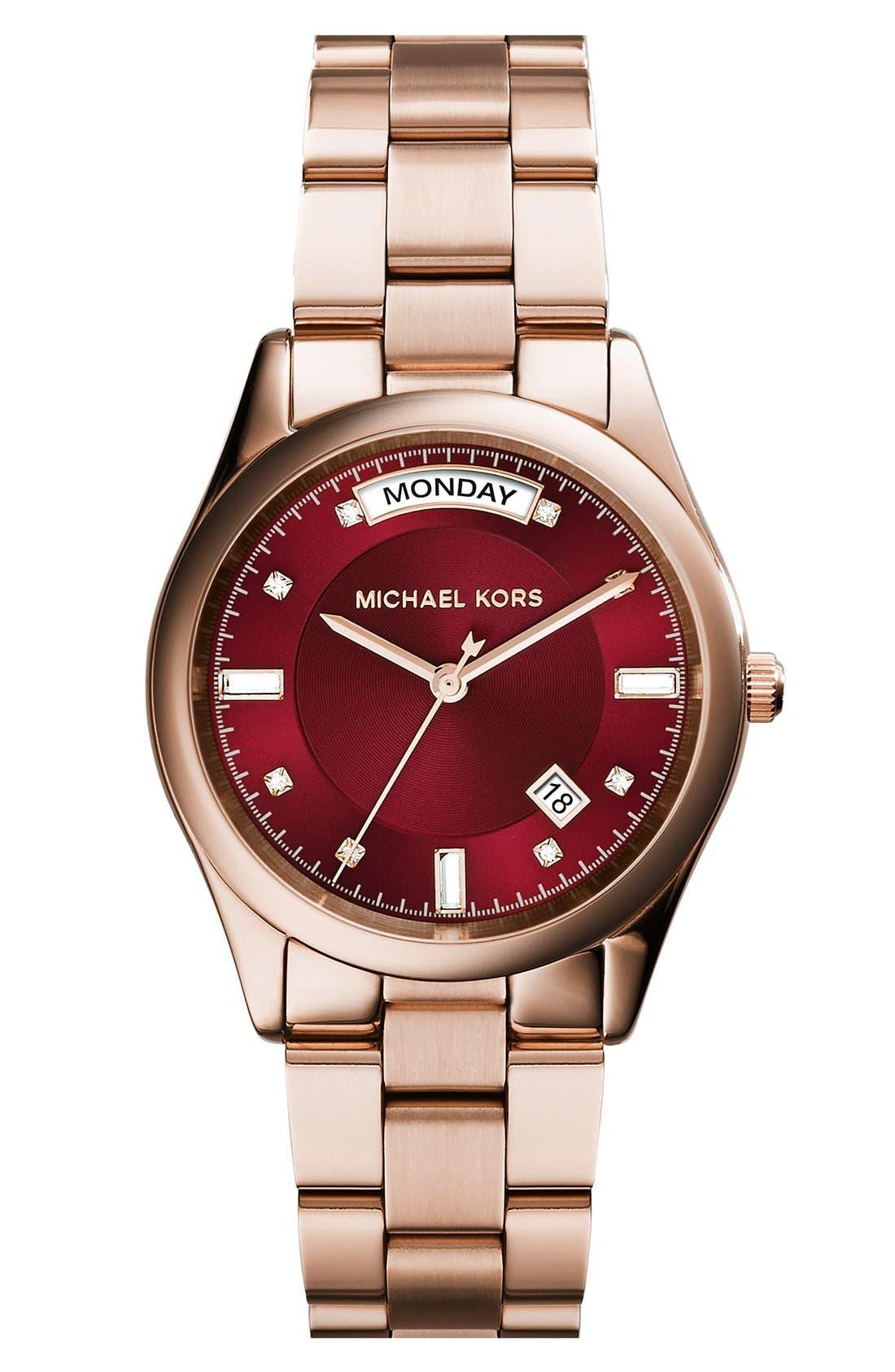 Alternate Image 1 Selected - Michael Kors 'Colette' Round Bracelet Watch, 34mm