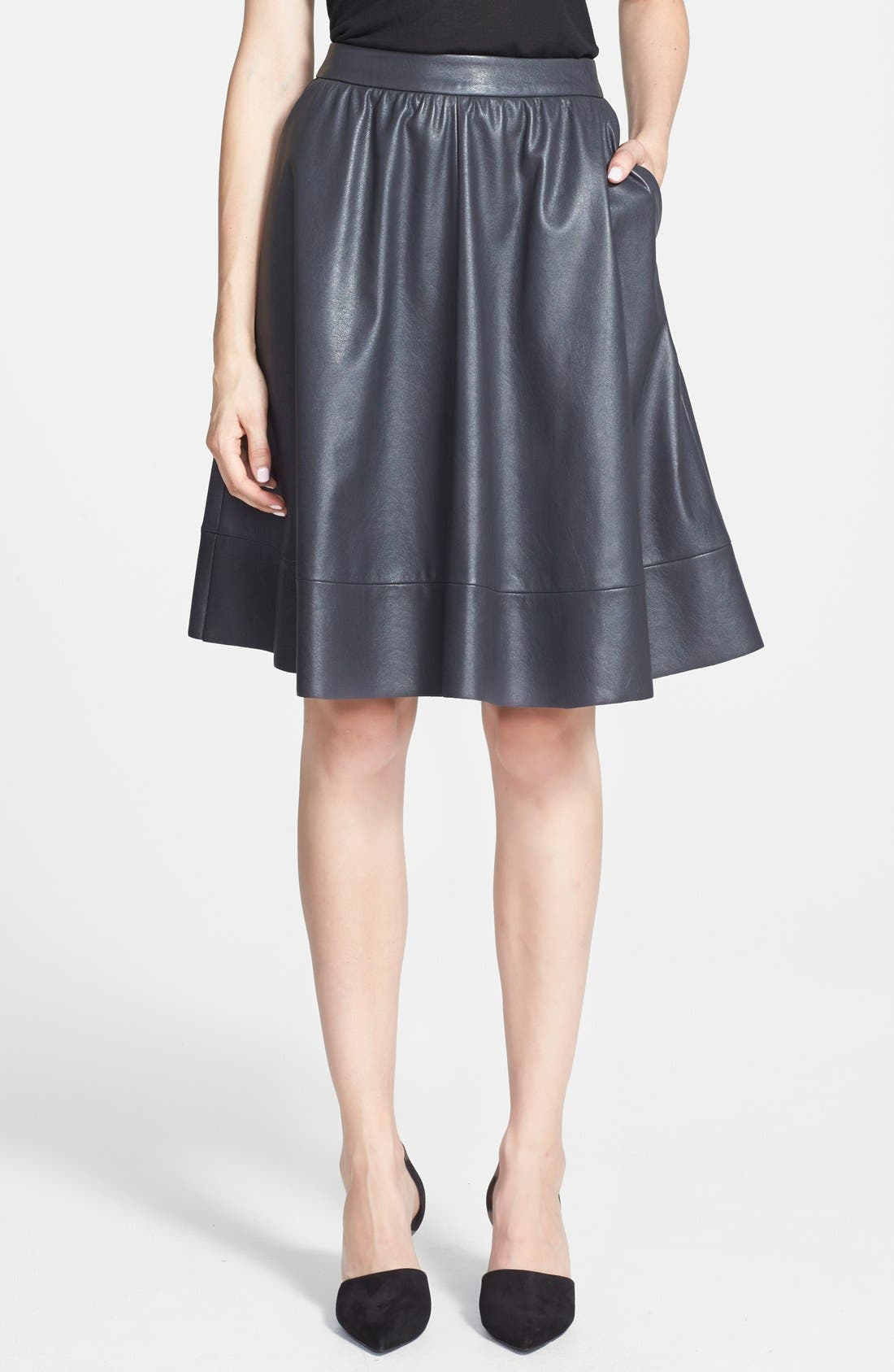 Main Image - Search for Sanity Faux Leather A-Line Skirt