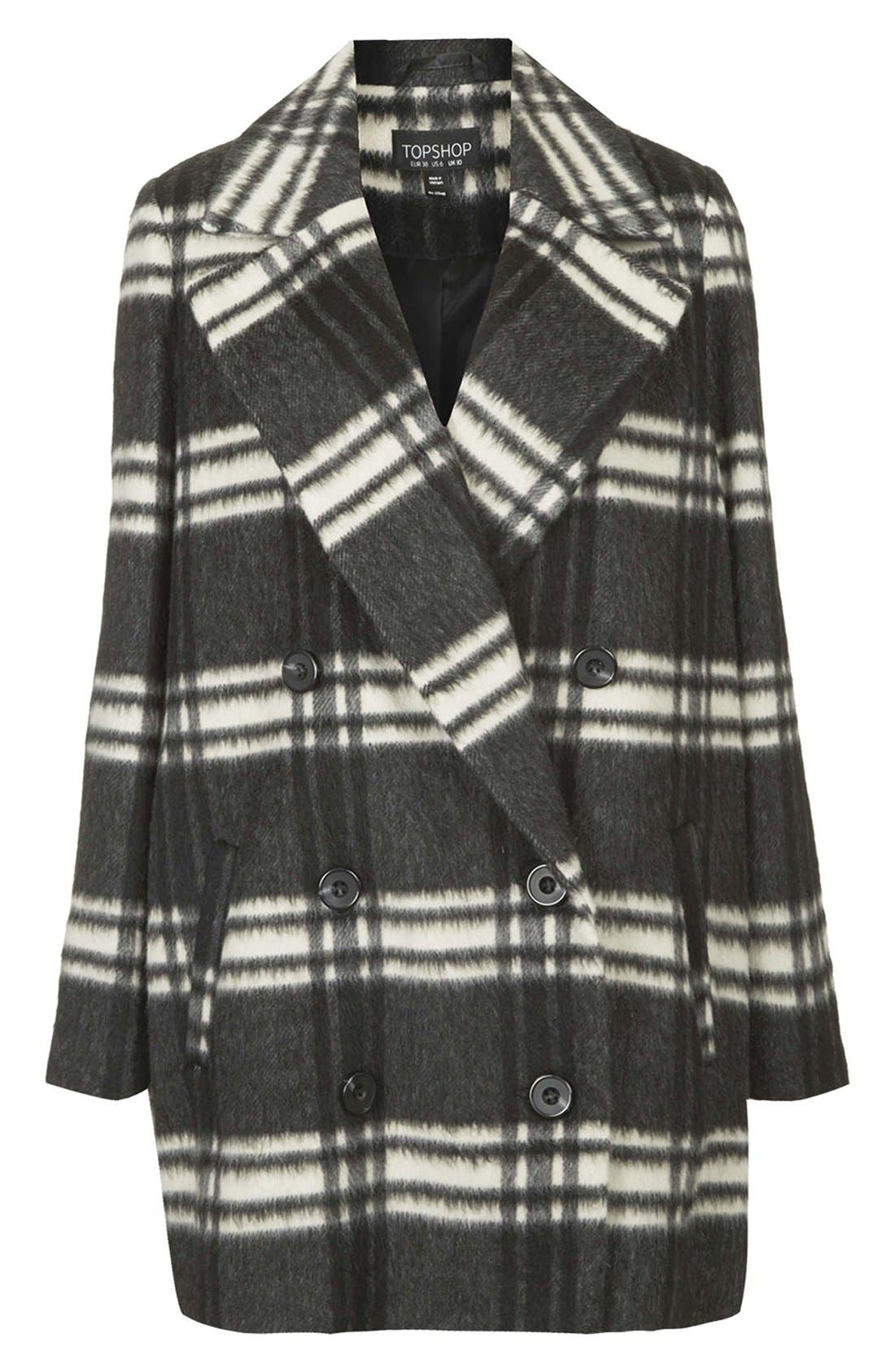 Alternate Image 3  - Topshop Double Breasted Pea Coat