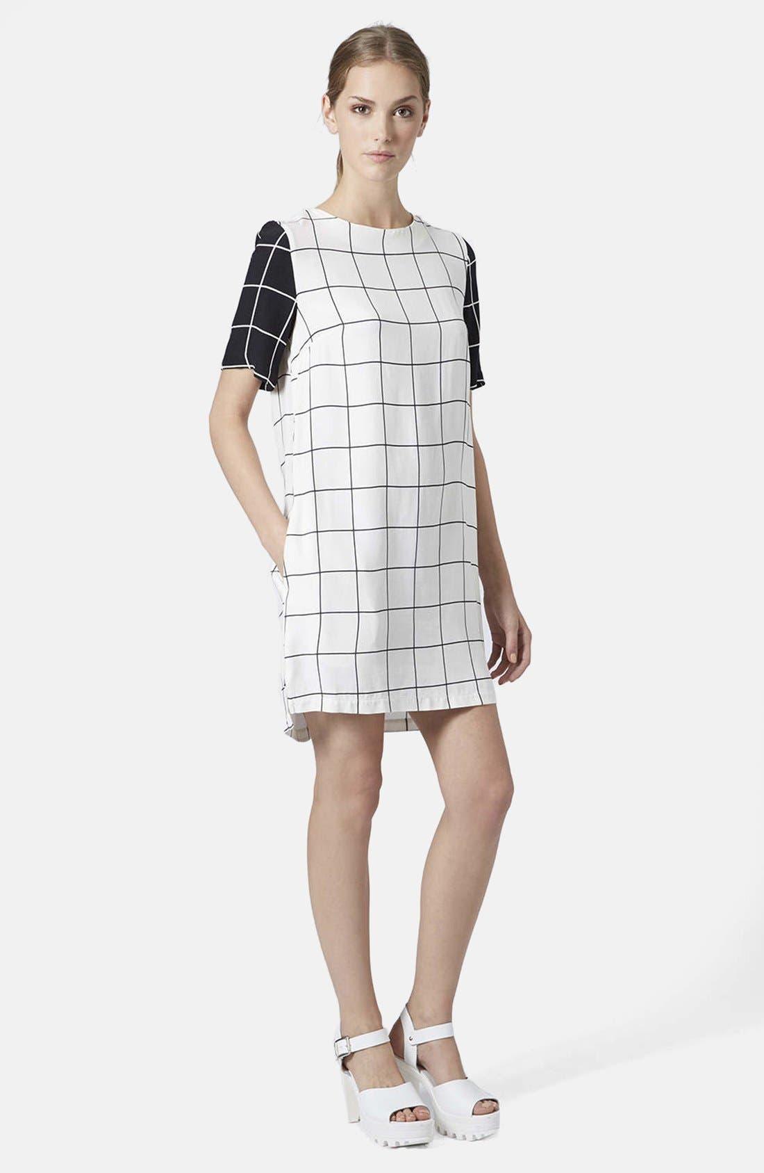 Alternate Image 5  - Topshop Grid Print Tunic Dress