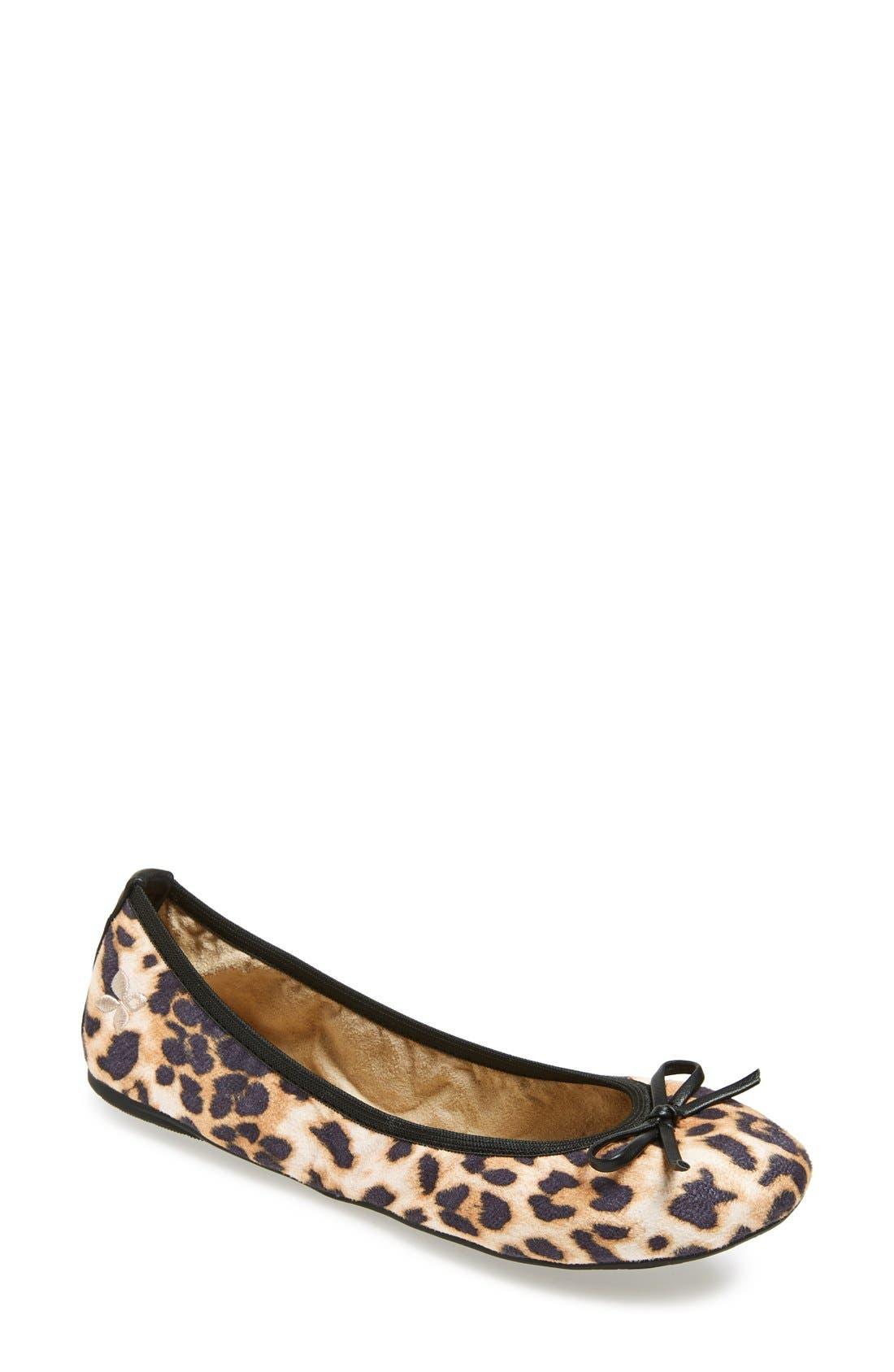 Main Image - Butterfly Twists 'Cleo Leopard' Foldable Ballerina Flat (Women)