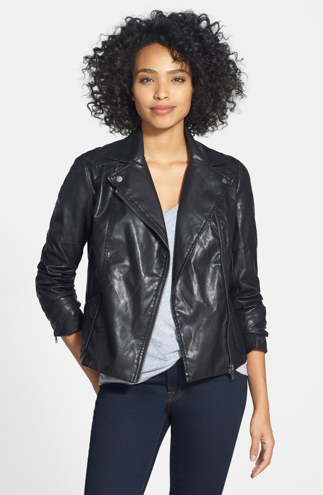 Alternate Image 1 Selected - KUT from the Kloth 'Avery' Faux Leather Jacket