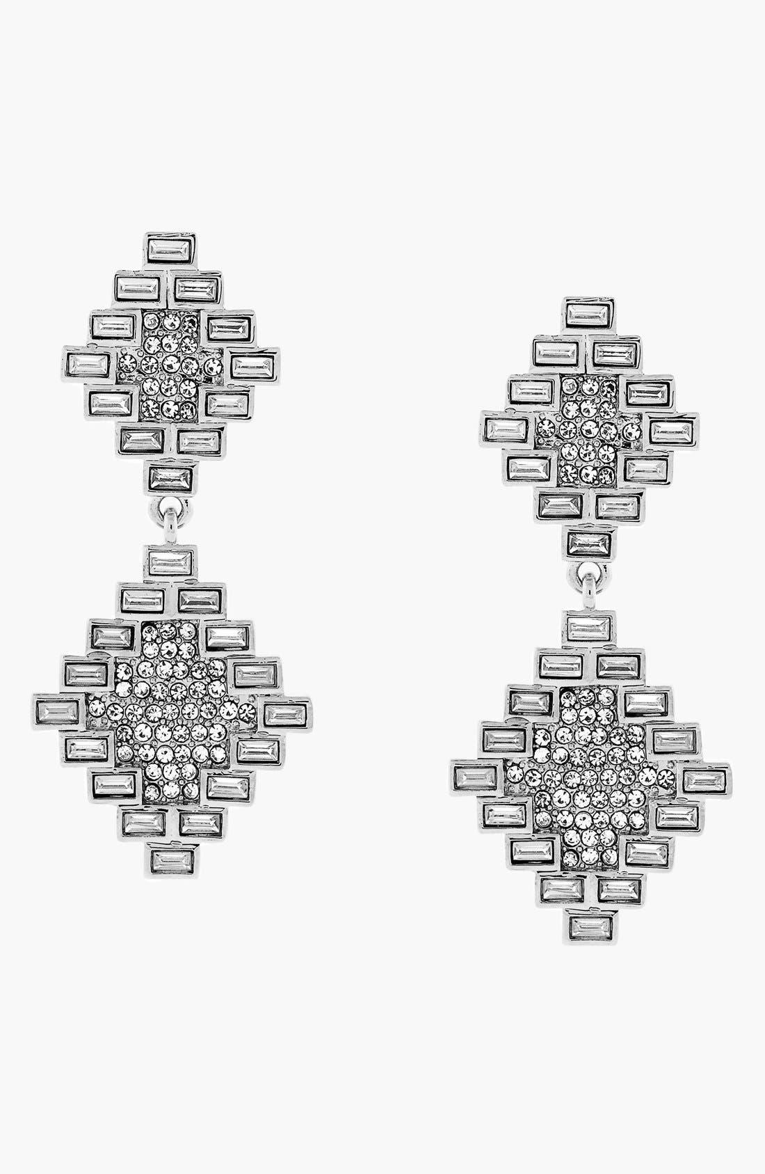 Alternate Image 1 Selected - Vince Camuto 'Glam Punk' Crystal Drop Earrings