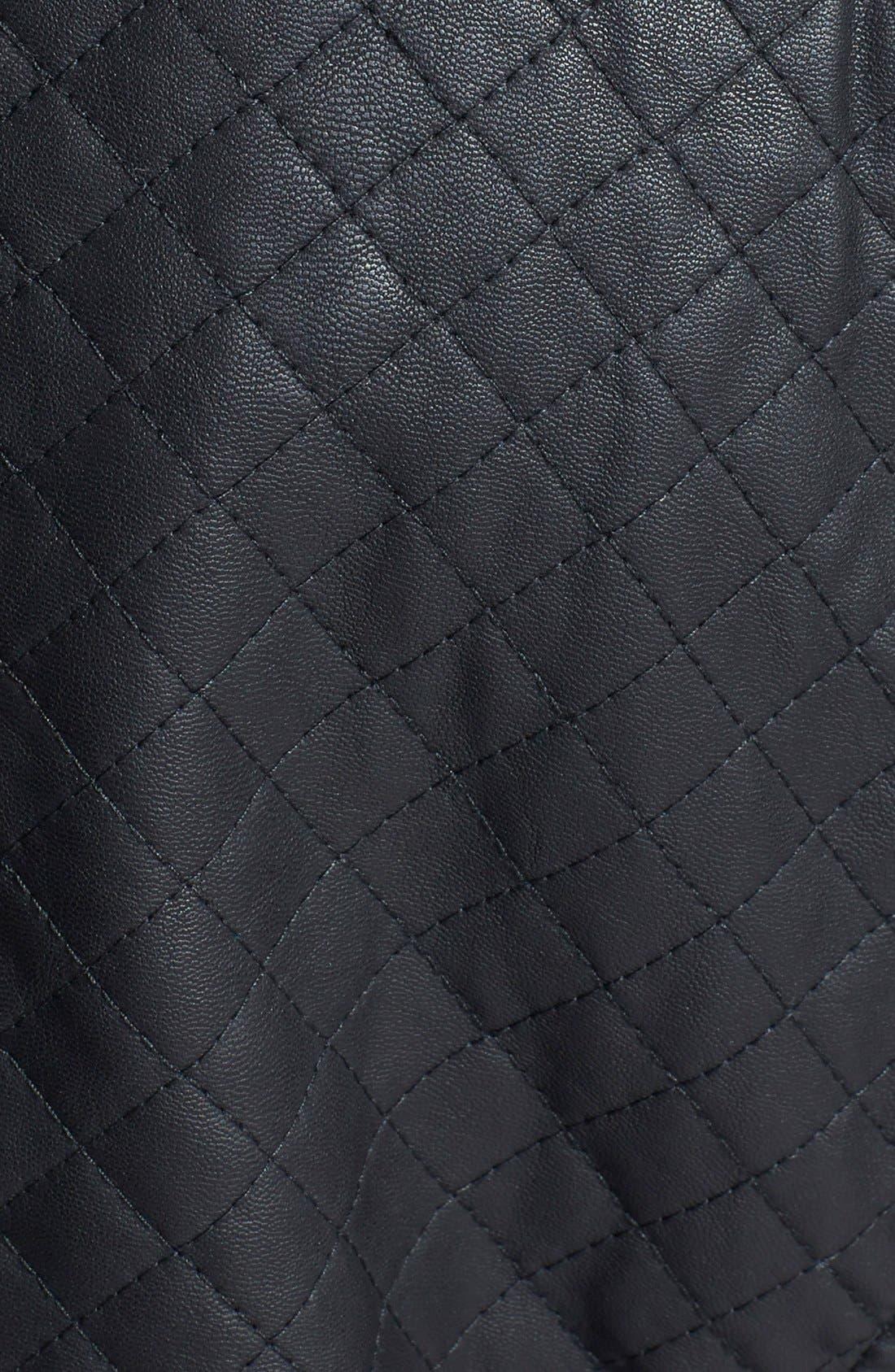 Alternate Image 3  - STELLA + LORENZO Faux Leather Jacket