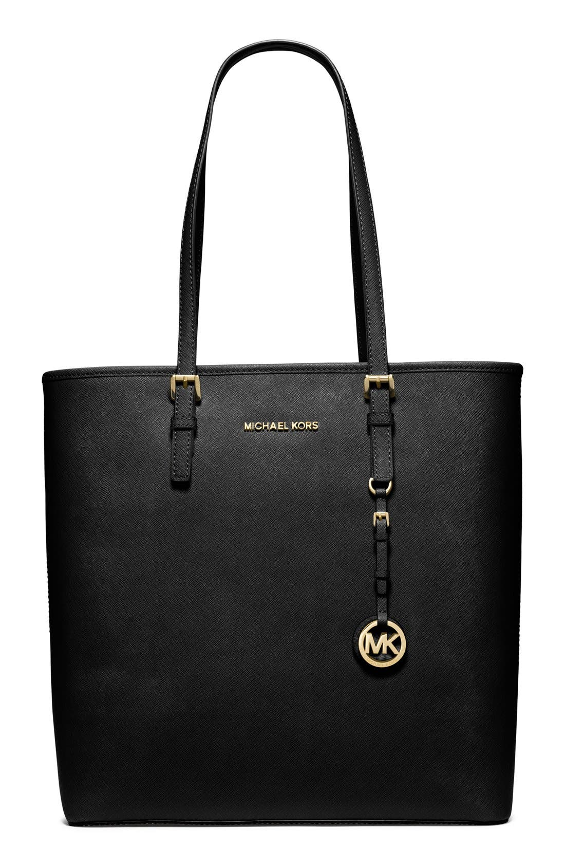 Alternate Image 1 Selected - MICHAEL Michael Kors North/South Saffiano Leather Tote
