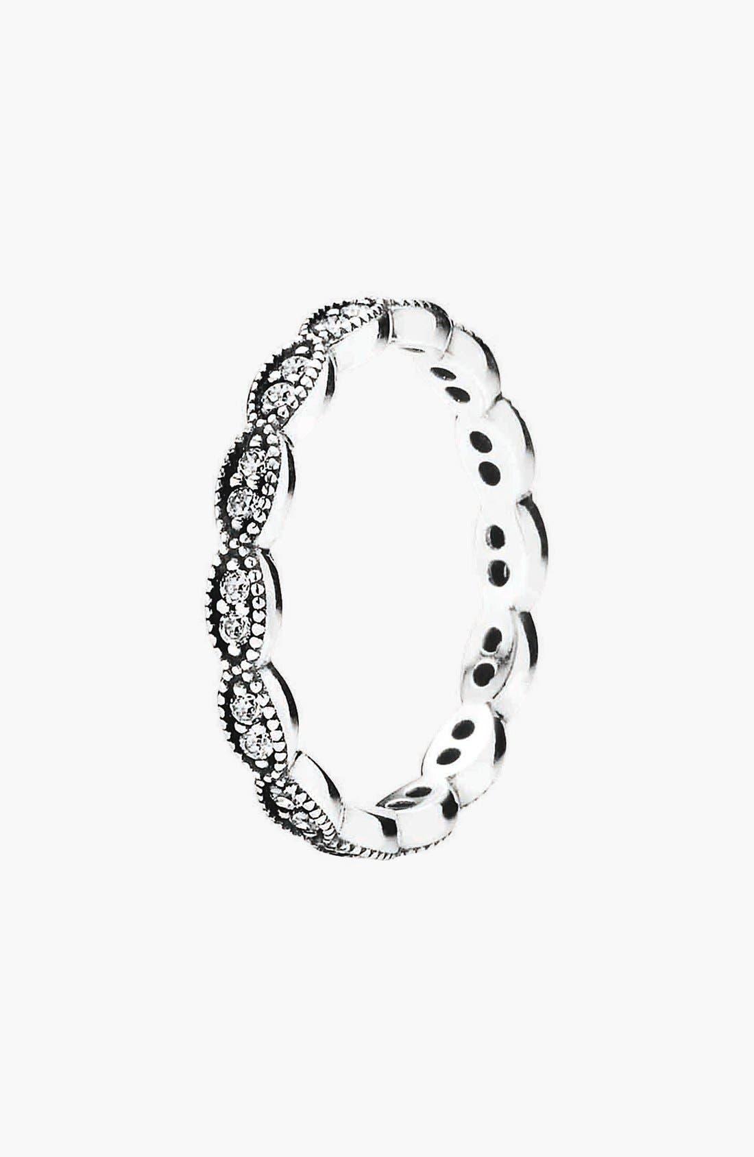 Alternate Image 1 Selected - PANDORA 'Sparkling Leaves' Band Ring