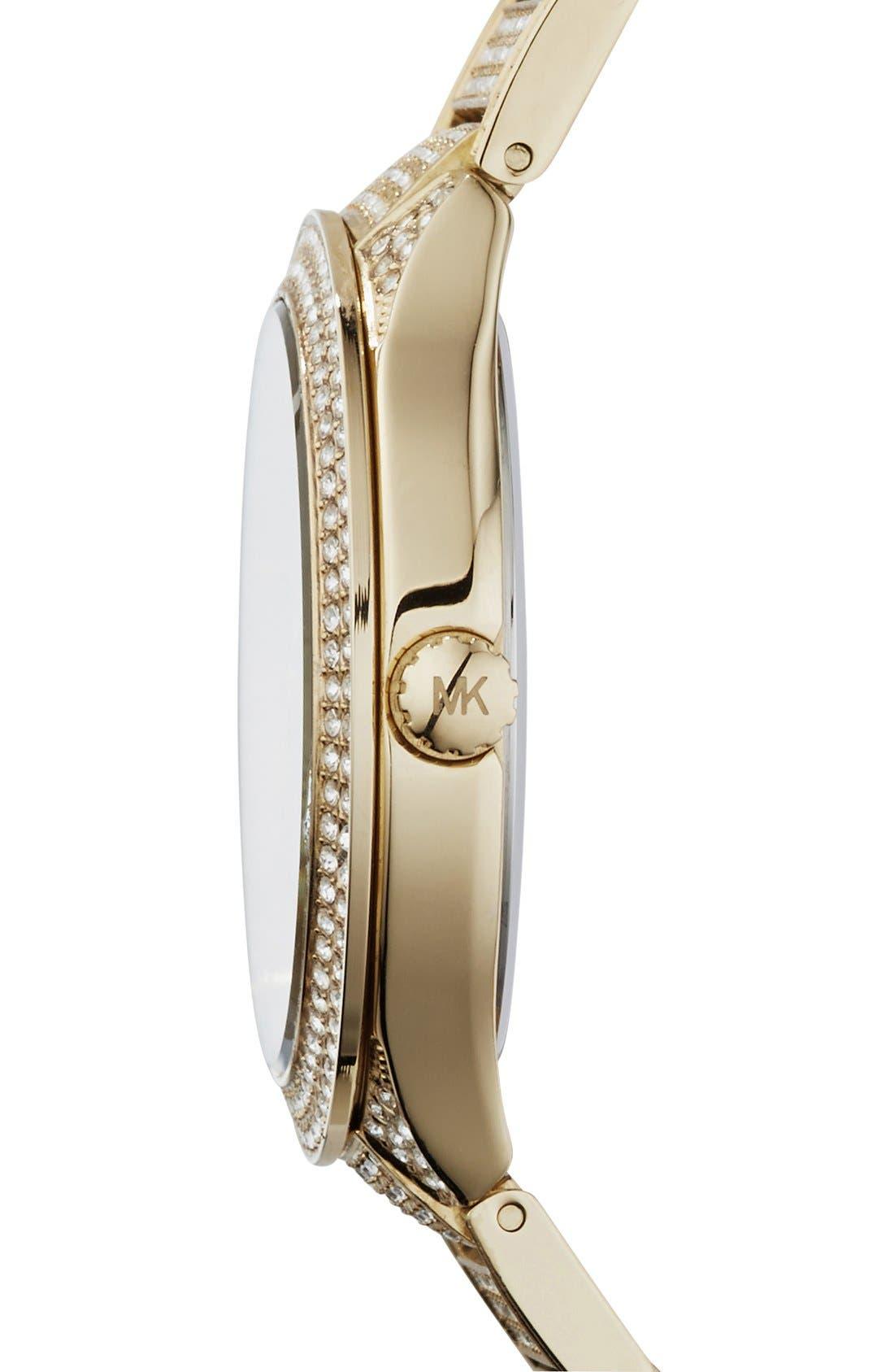 Alternate Image 3  - Michael Kors 'Kerry' Pavé Round Bracelet Watch, 38mm