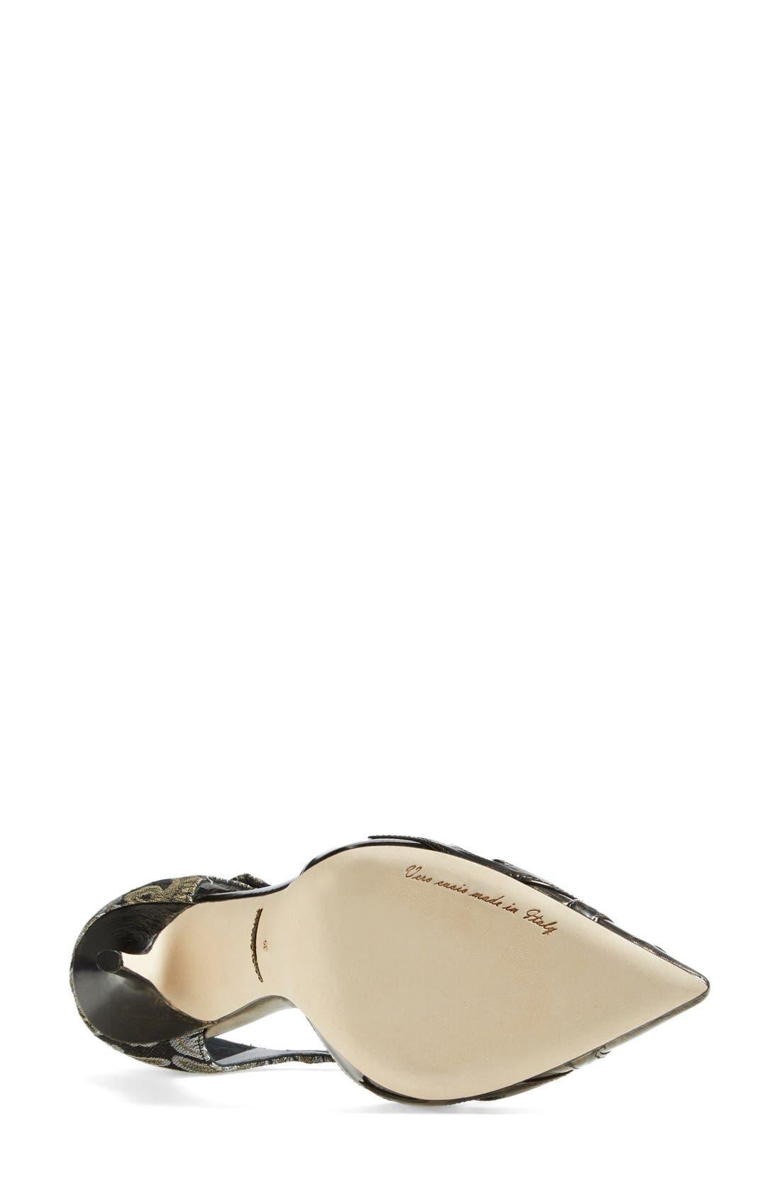 Alternate Image 4  - Dolce&Gabbana Jacquard Pointy Toe T-Strap Pump (Women)