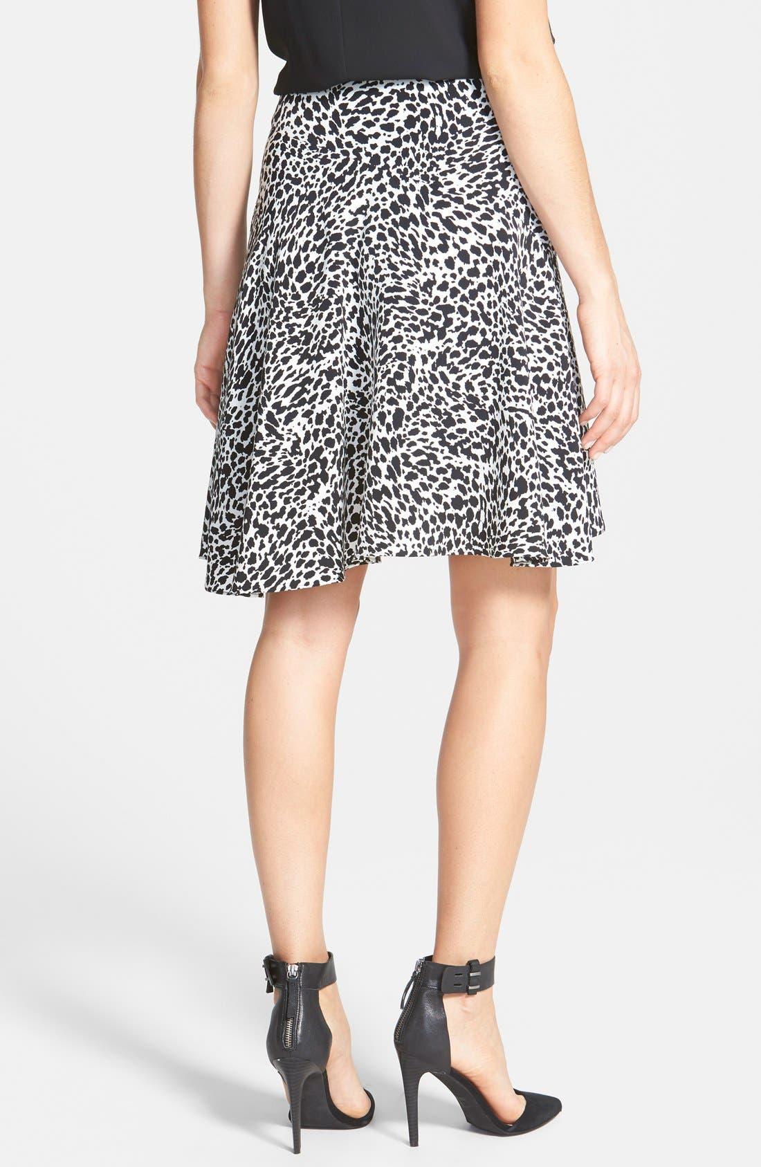 Alternate Image 2  - Vince Camuto 'Animal Flurry' Asymmetrical Flounce Skirt