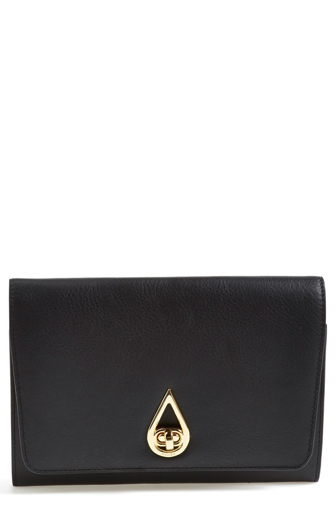 Alternate Image 1 Selected - KENZO 'Raindrop' Leather Clutch